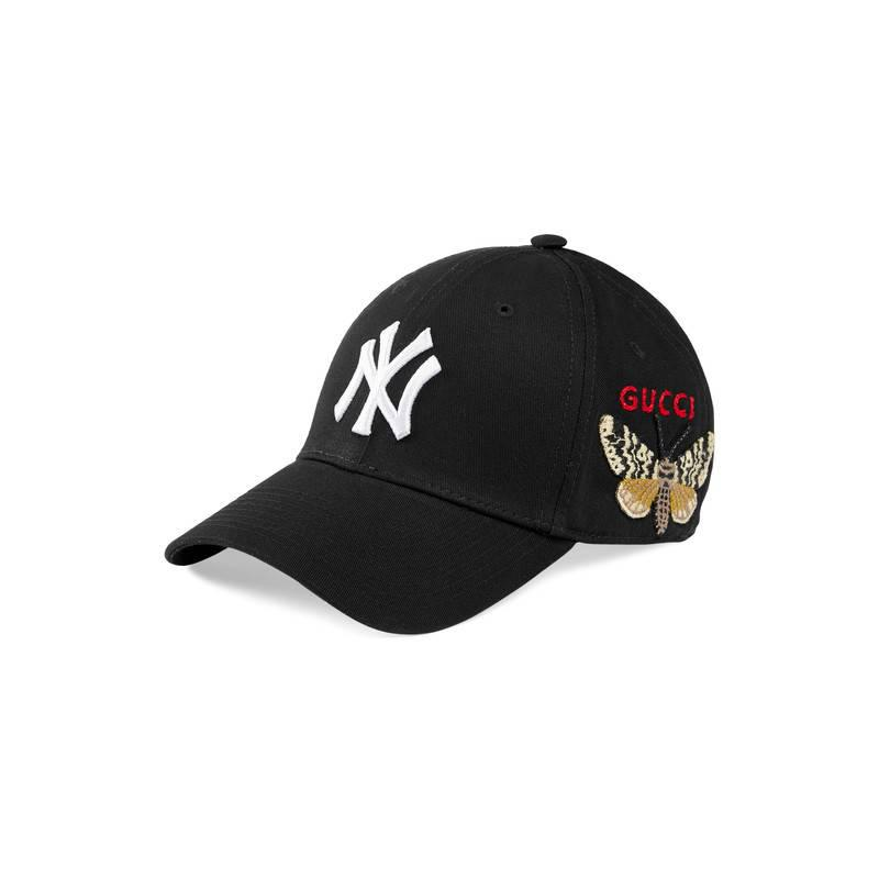 102f070c Gucci - Black Baseball Cap With Ny Yankeestm Patch for Men - Lyst. View  fullscreen