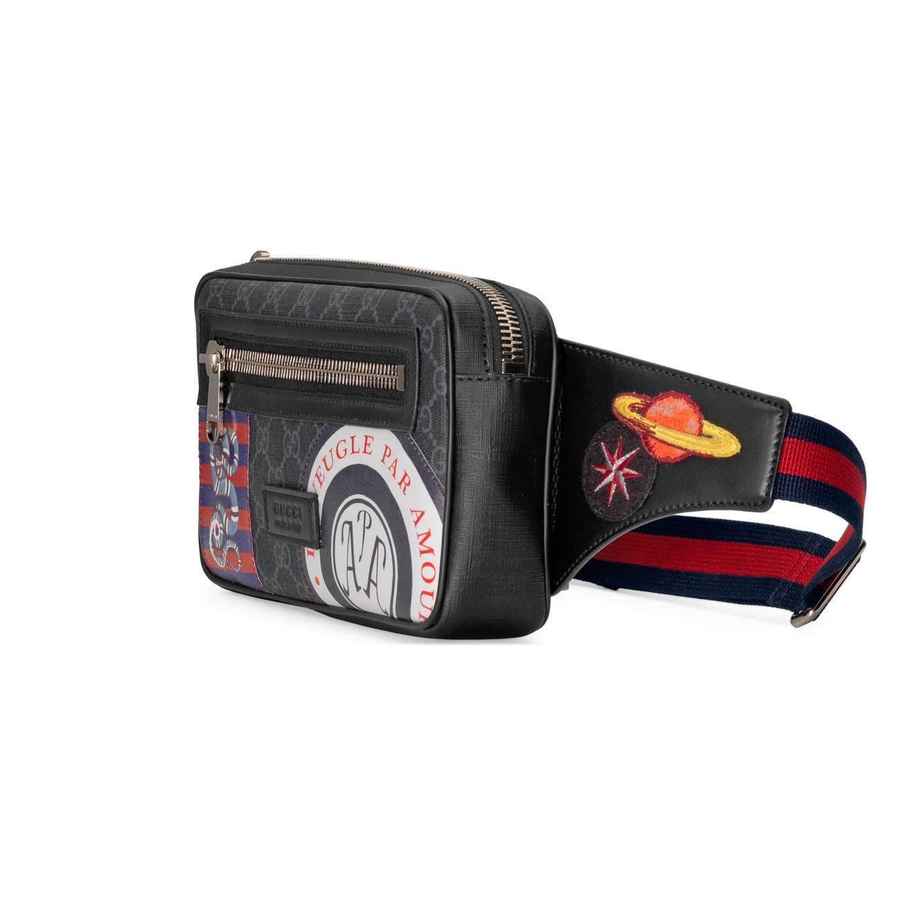 0fa904522773c4 Gucci Night Courrier Soft GG Supreme Belt Bag in Black for Men - Lyst