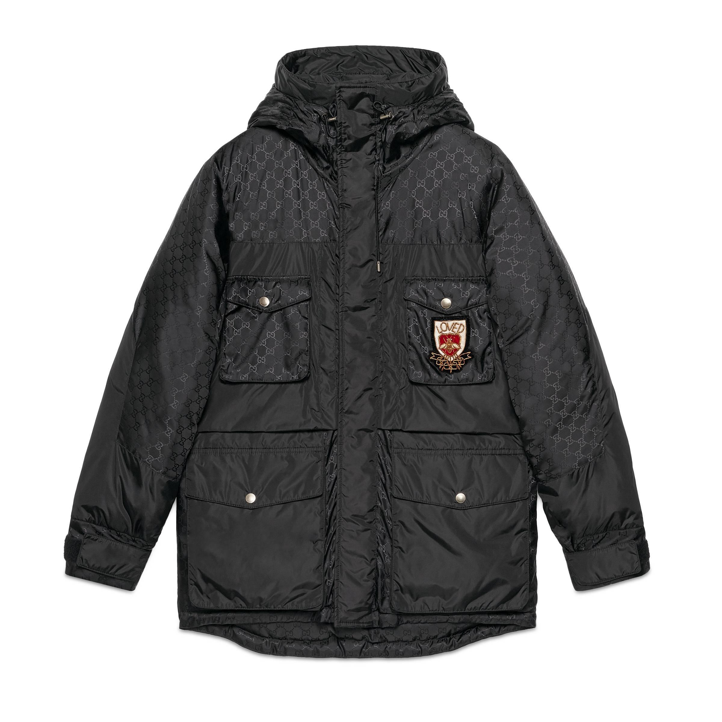 669ce6fce6b Lyst - Doudoune à motif Suprême GG Gucci pour homme en coloris Noir