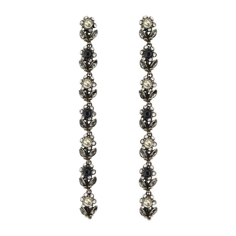 1413f92427 Gucci Daisy Earrings With Crystals And Pearls in Metallic - Lyst