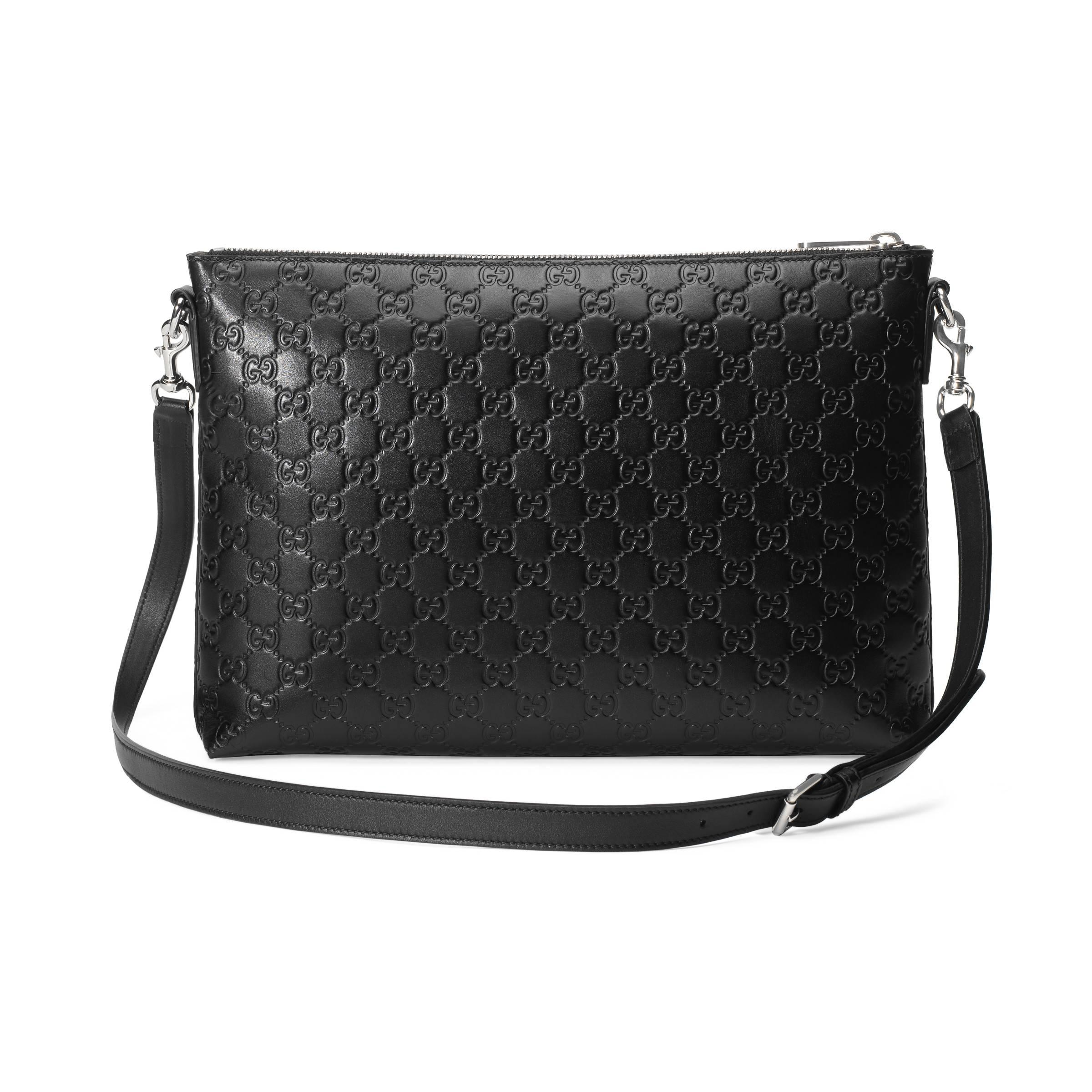 8b04f1092bfc Gucci - Black Signature Soft Messenger for Men - Lyst. View fullscreen