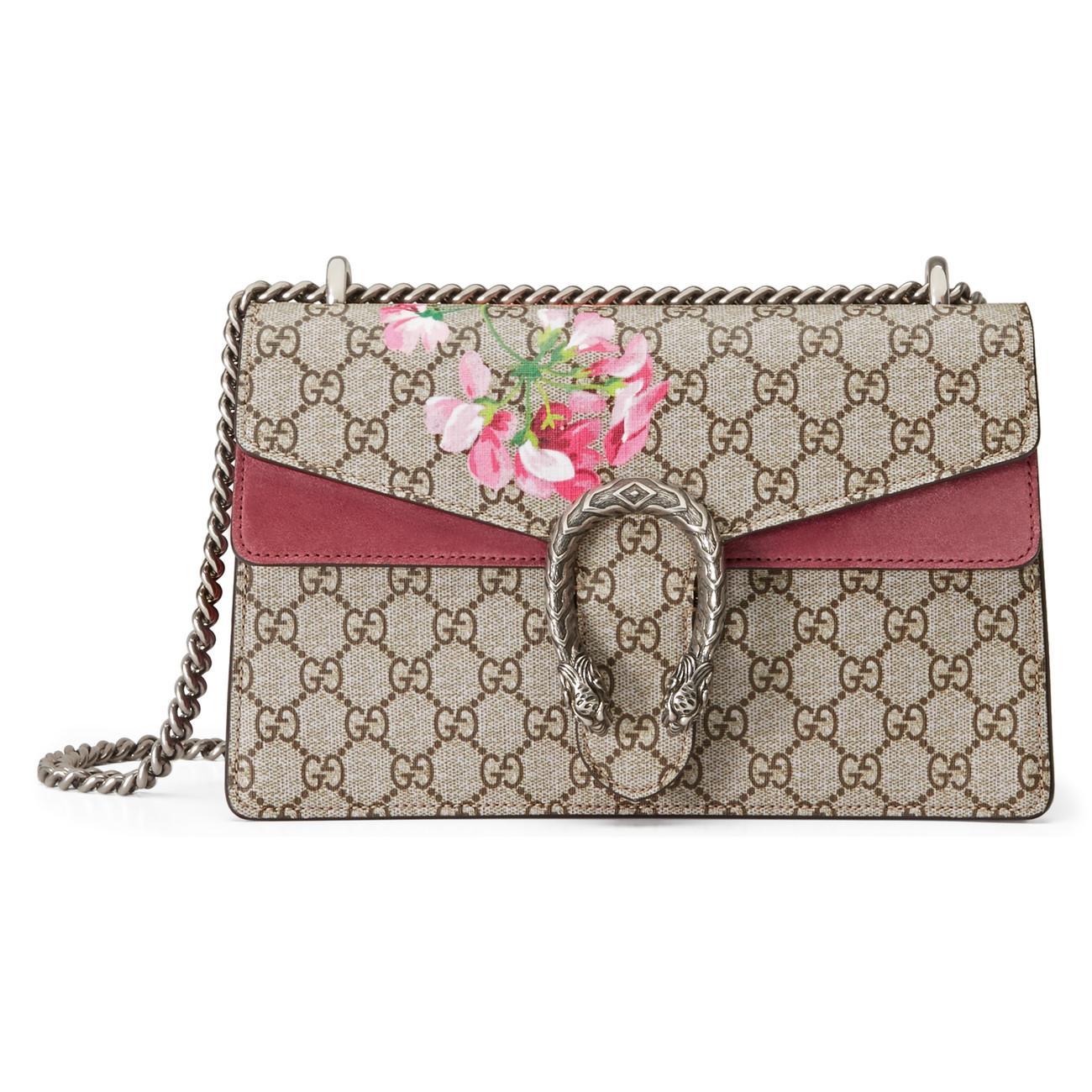 233461ea Gucci Dionysus Small GG Blooms Shoulder Bag - Lyst