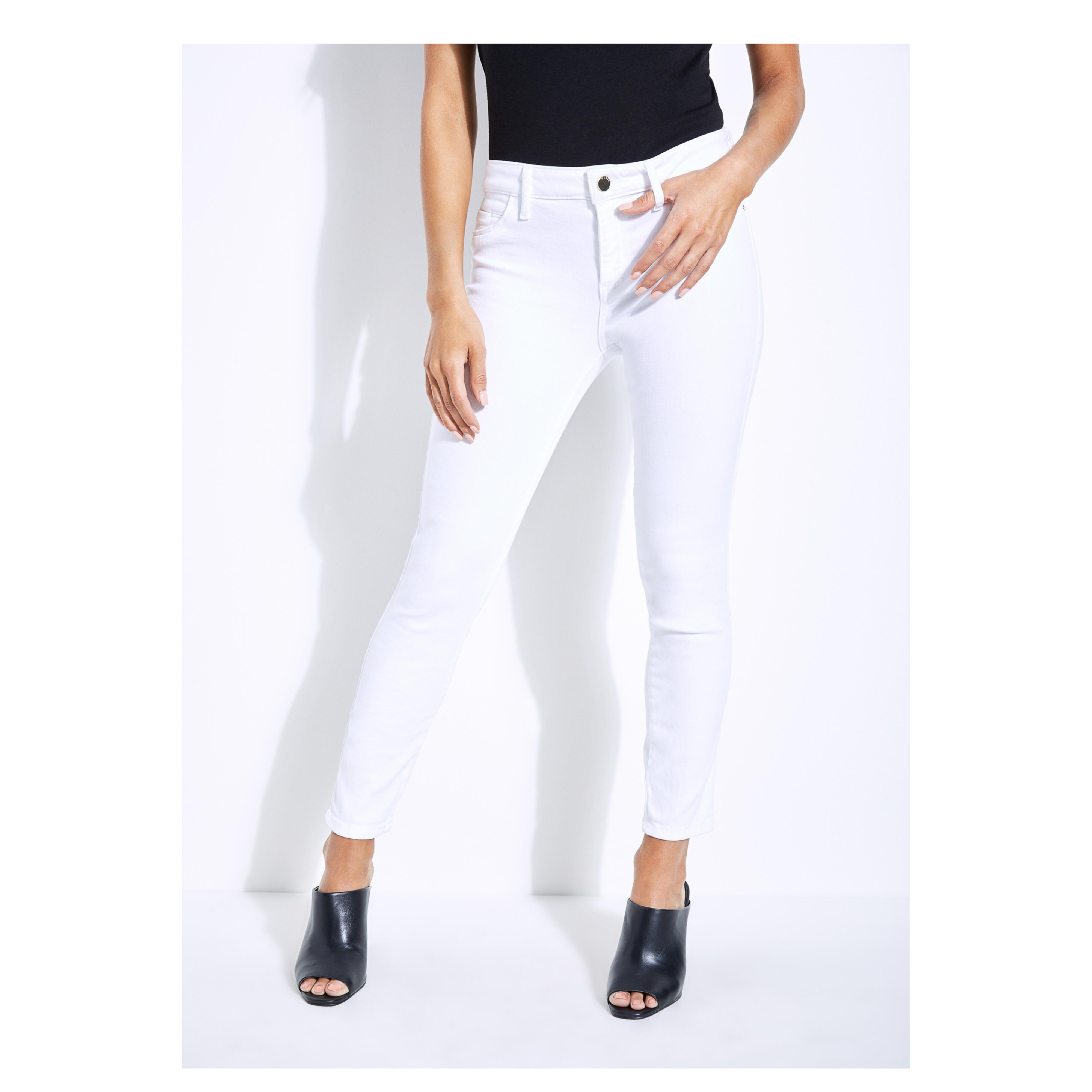 Guess. Women's White Sexy Curve Cropped Skinny Jeans