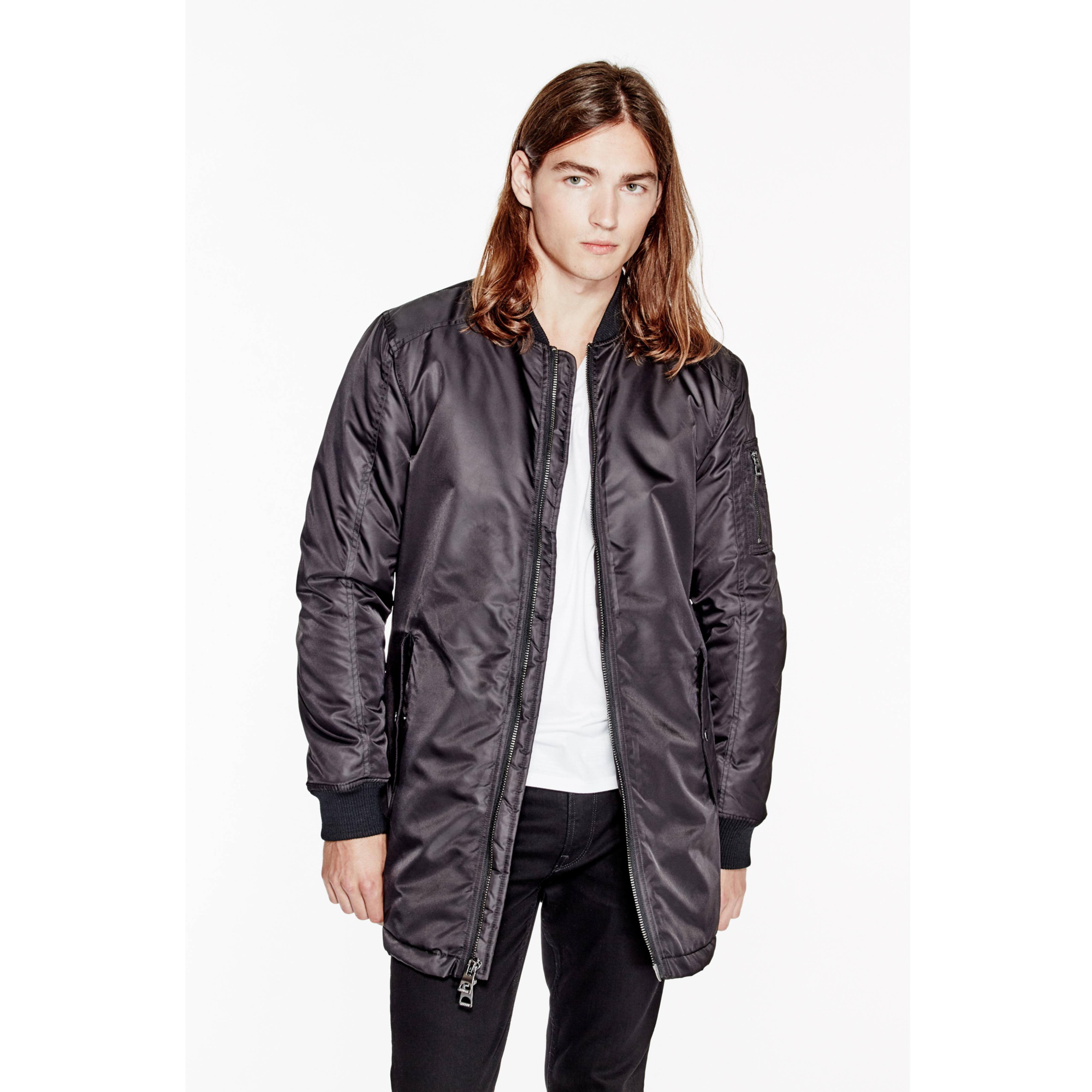 Guess Liam Bomber Jacket In Black For Men Lyst