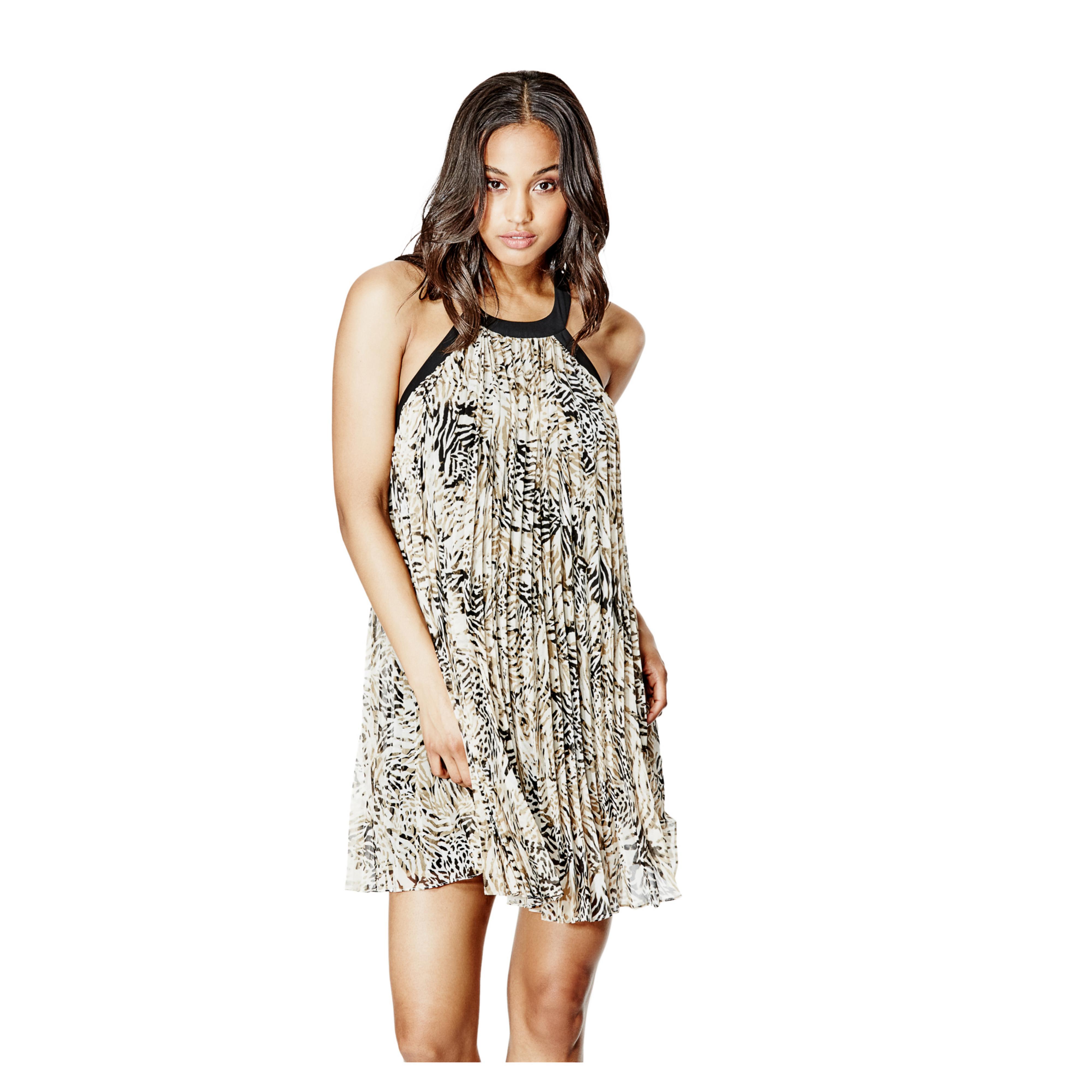 2ce91ba81ba7 Lyst - Guess Fiona Sleeveless Pleated Dress