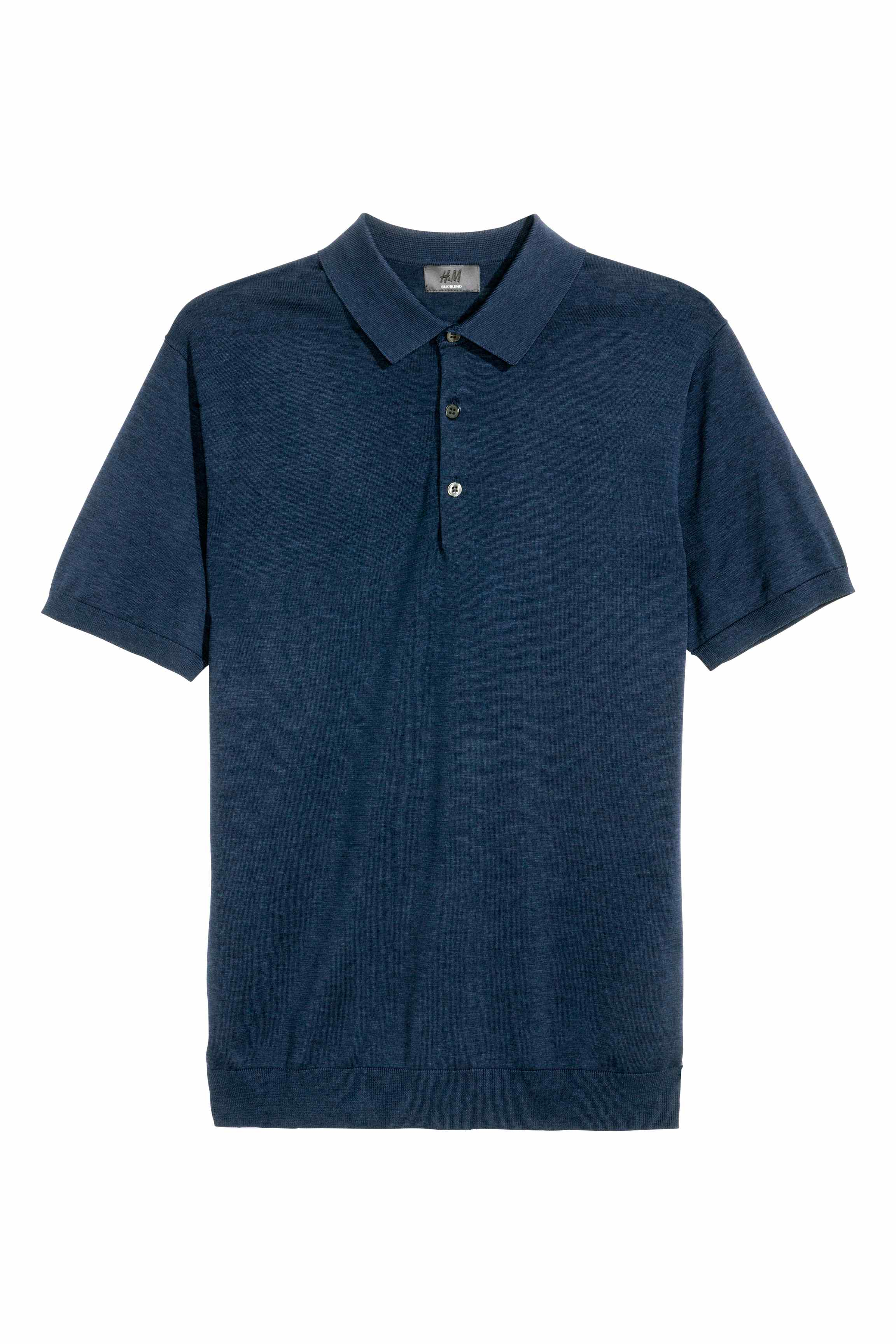 Lyst h m silk blend polo shirt in blue for men for H m polo shirt mens