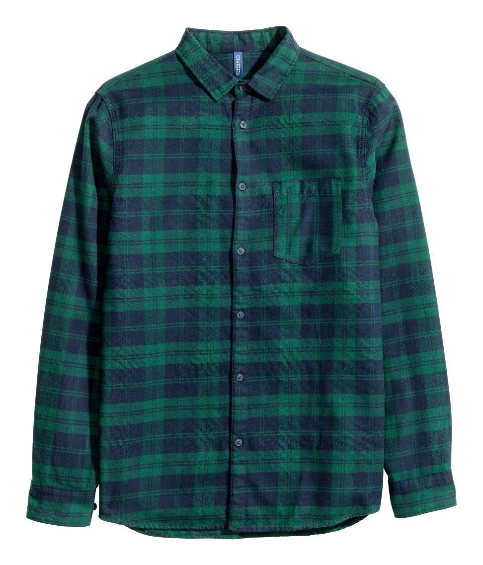 Slim Fit Flannel Shirts For Men
