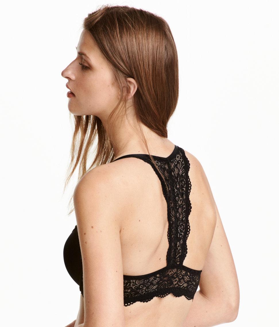h m super push up bra in black lyst. Black Bedroom Furniture Sets. Home Design Ideas