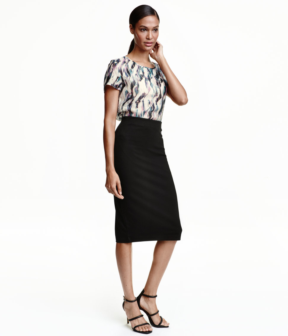 h m pencil skirt in black lyst