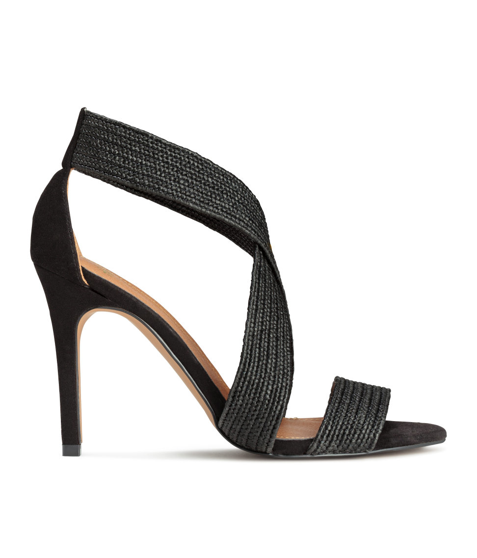 h m sandals in black lyst