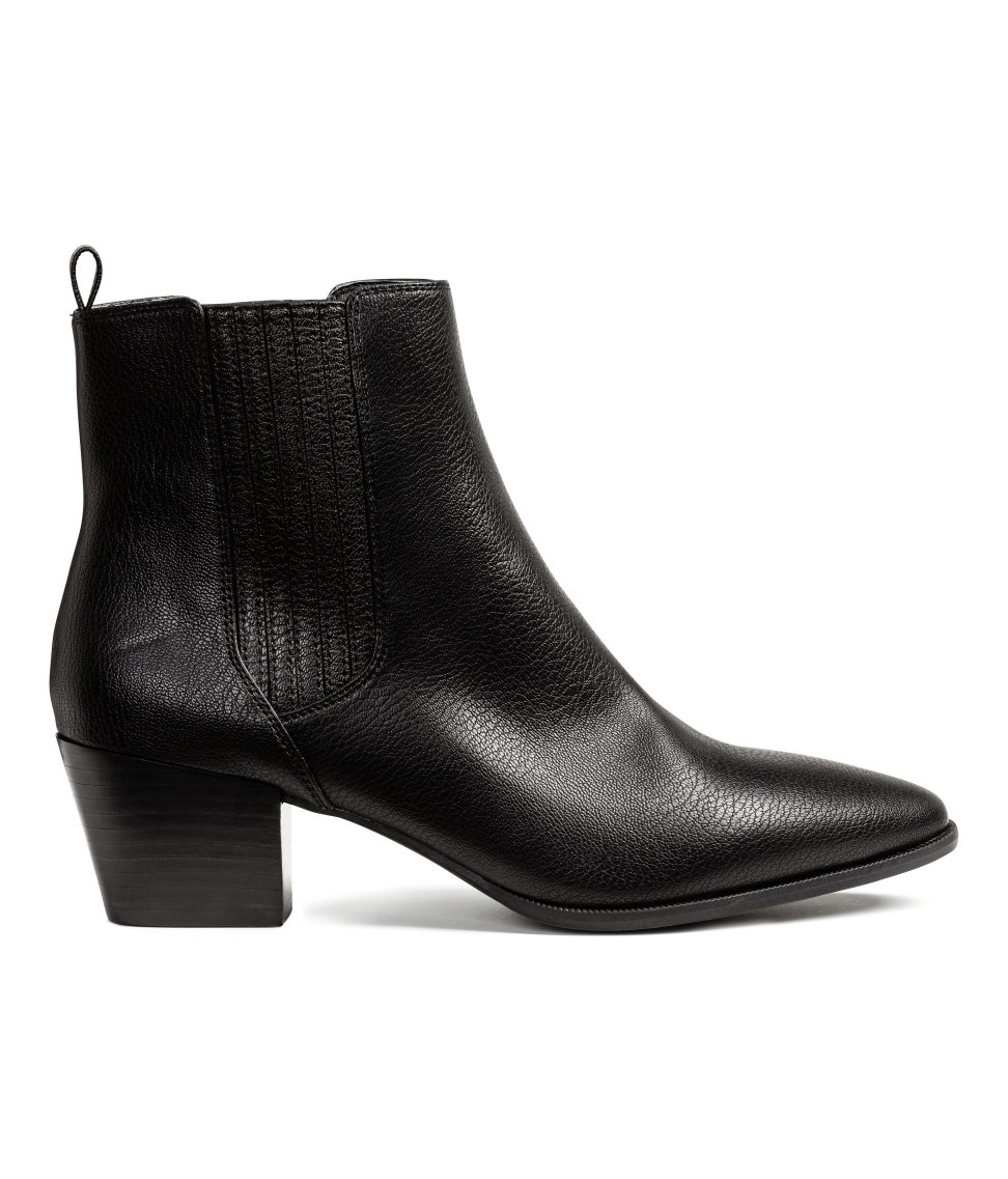 h m ankle boots in black lyst