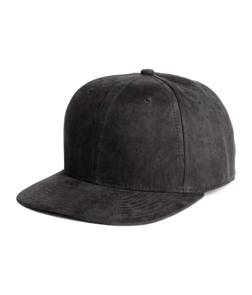 H Amp M Imitation Suede Cap In Black For Men Lyst