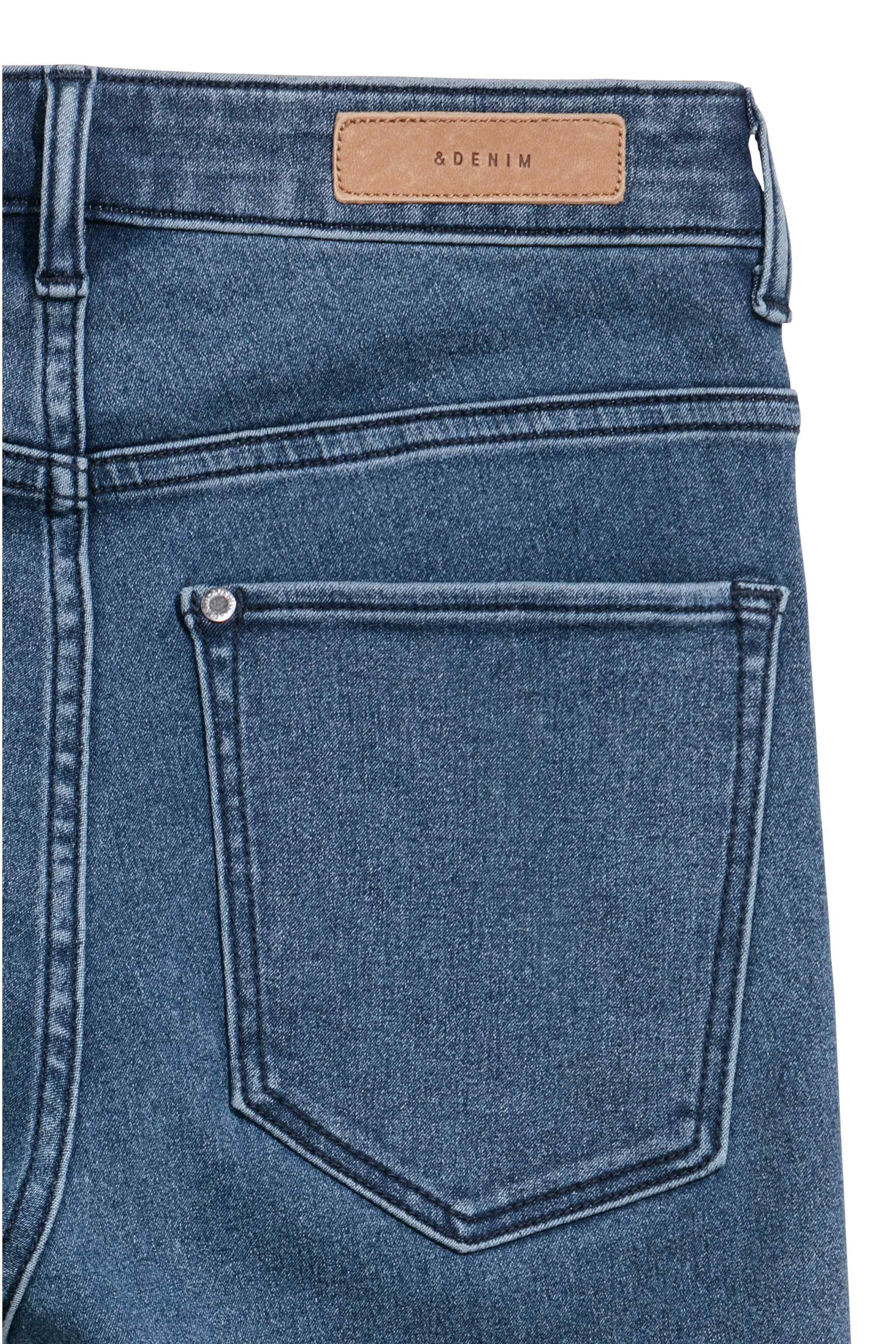 a3f614c0b5a14 H&M Skinny High Waist Jeggings in Blue - Lyst