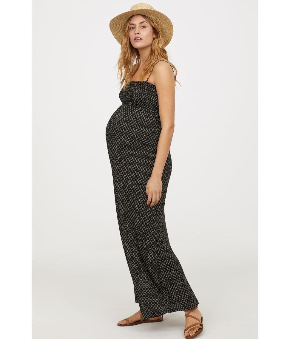 64908f471831c Lyst - H&M Mama Long Jersey Dress in Black