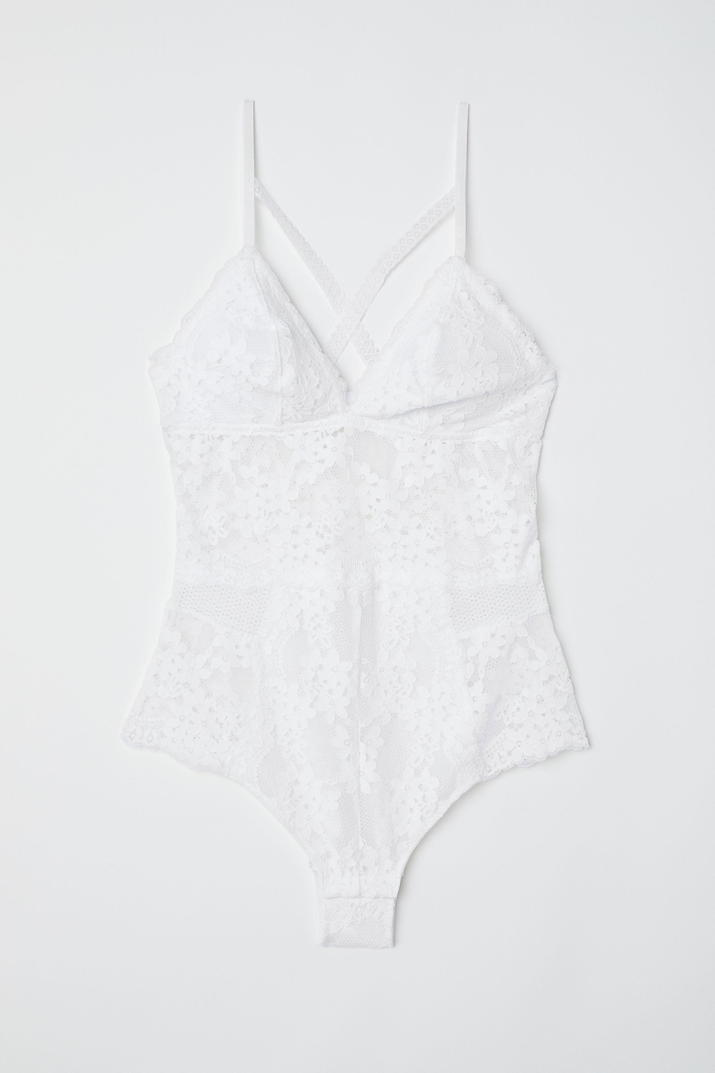 e042d0d74fc H&M Lace Bodysuit in White - Lyst