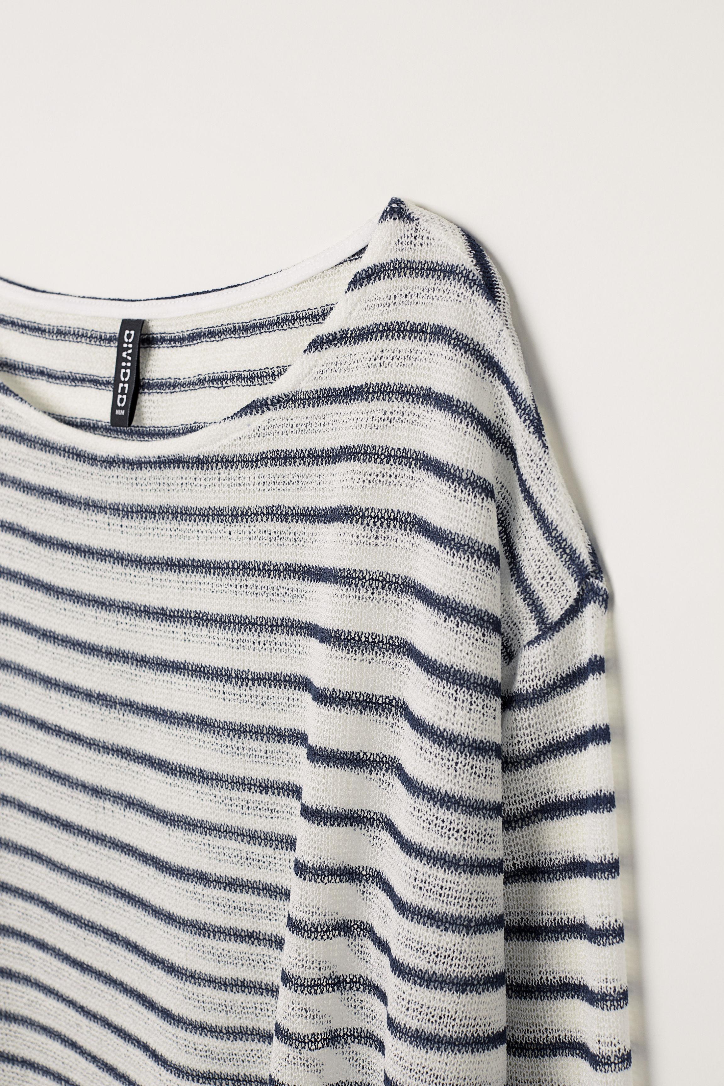cf675e32b242 Lyst - H M Fine-knit Sweater