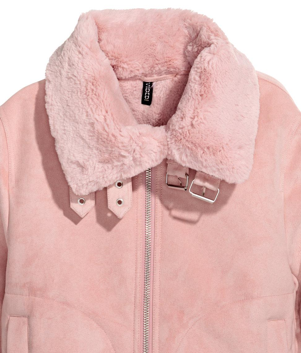 amp;m H Jacket Lyst With In Pink Lining Faux Fur vZqw5Oz