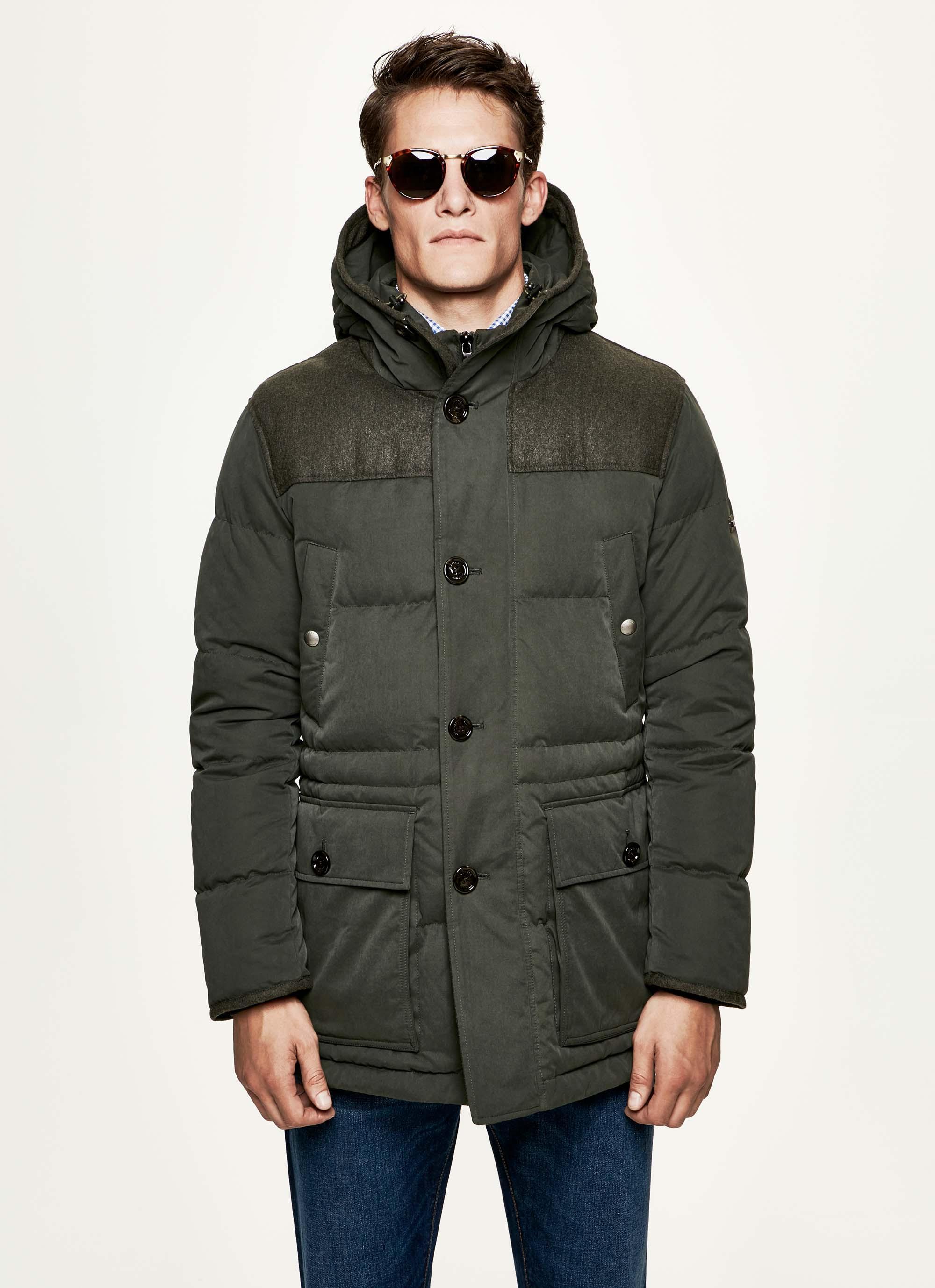 Hackett mens winter velo jacket navy