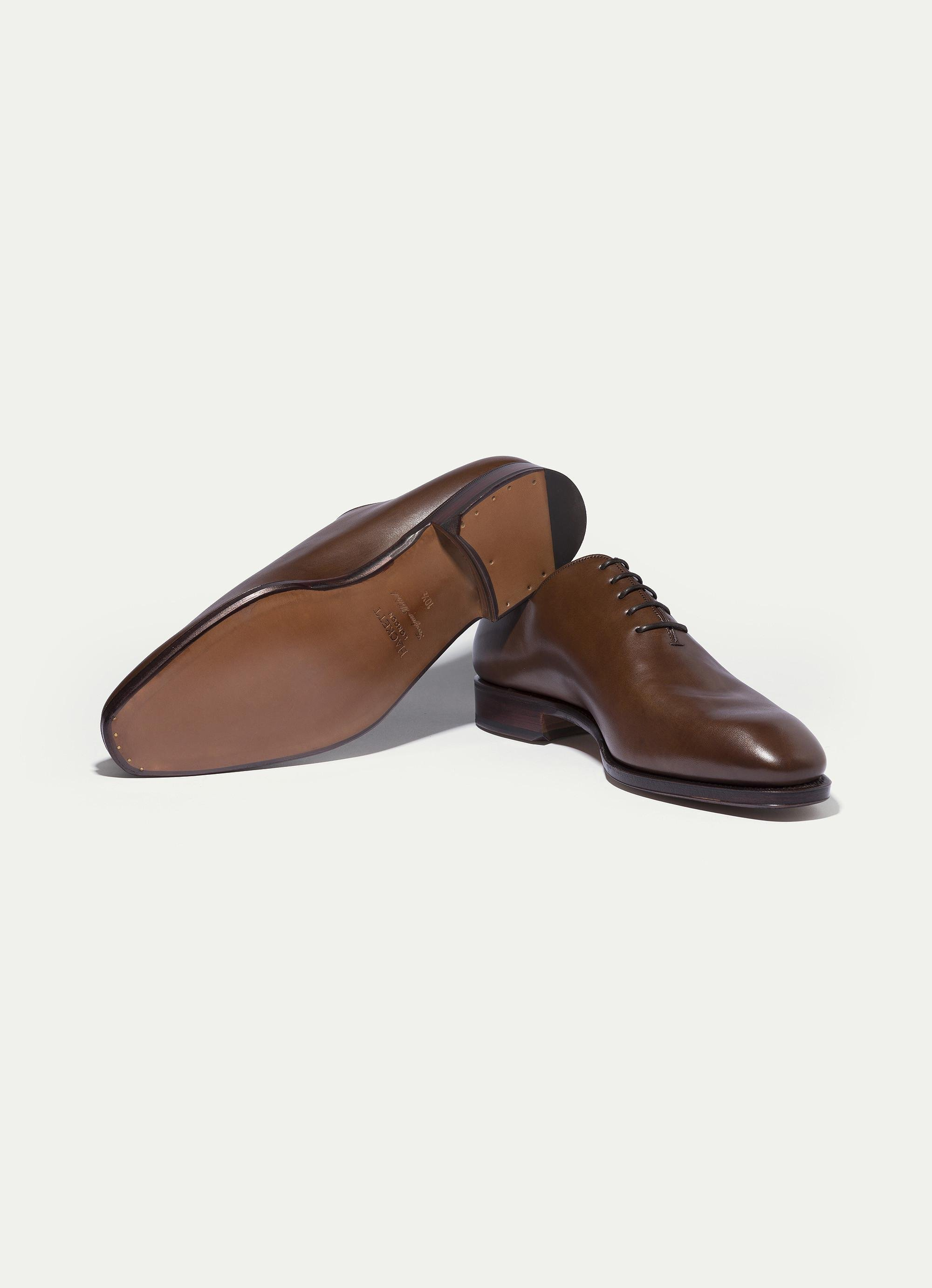 Hackett The One Piece Leather Shoe In Brown For Men Save
