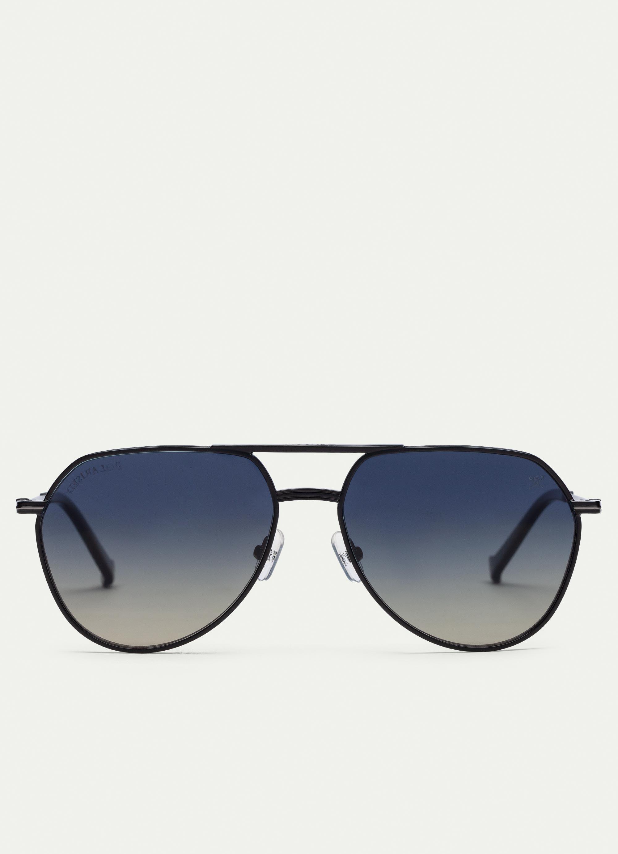 f2cb08e1500 Hackett Pilot Oversized Metal Sunglasses in Black for Men - Lyst