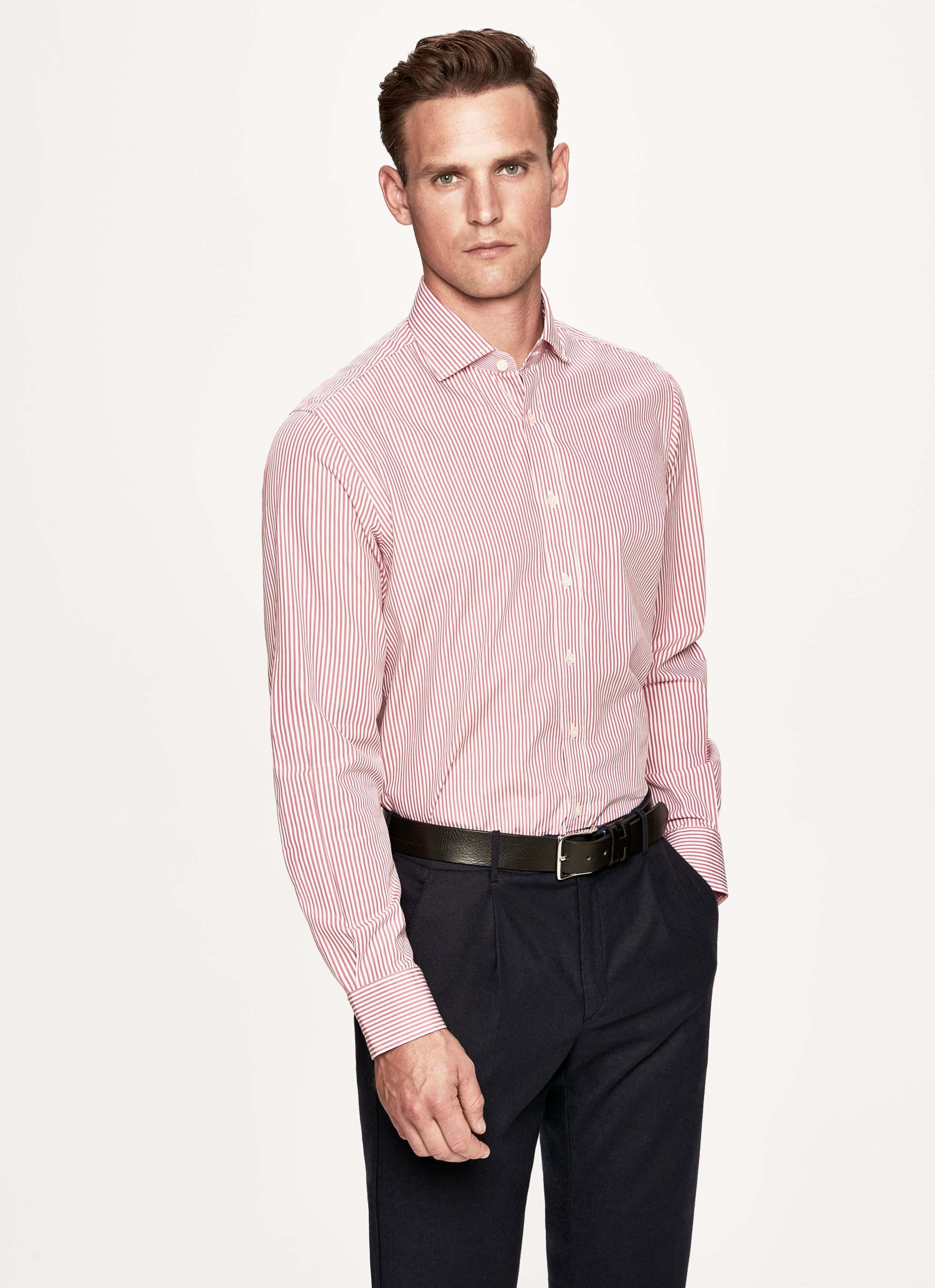 Hackett Skinny Bengal Stripe Cotton Shirt in Pink for Men - Lyst 9c3412c4b2700