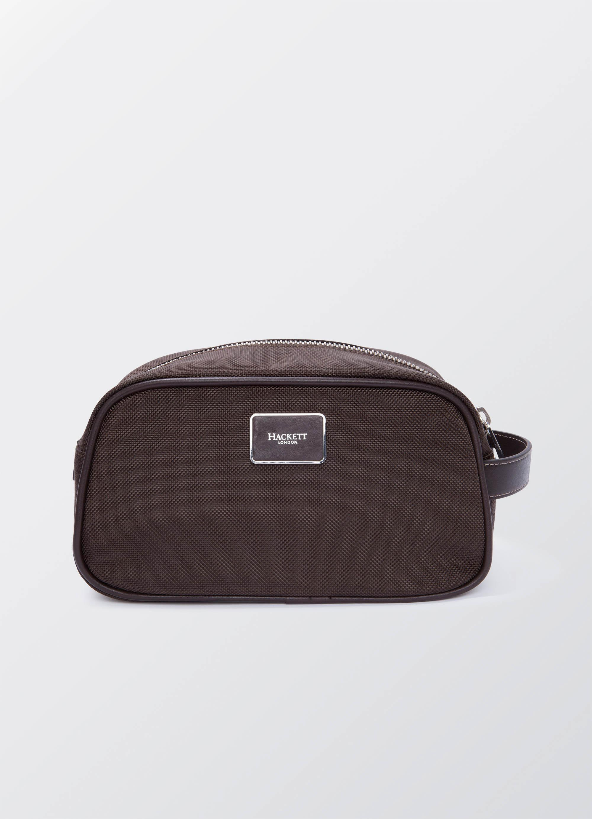 61a12b23cf Hackett New Utility Wash Bag in Brown for Men - Lyst