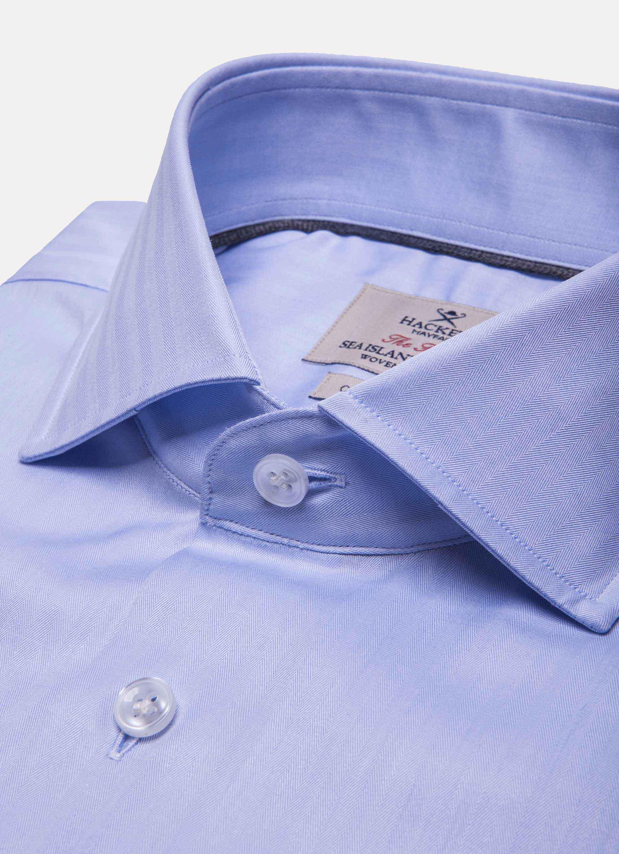 Hackett Luxurious Sea Island Cotton Shirt In Blue For Men Lyst