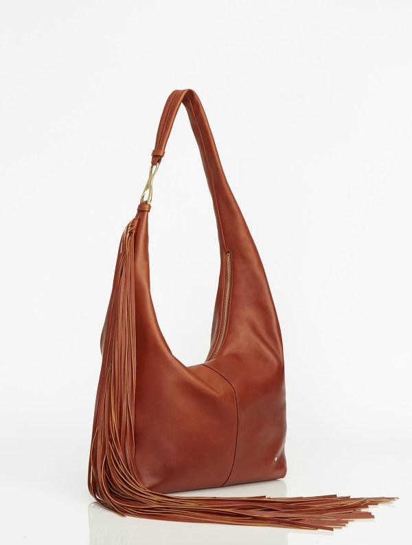 0ba050baa765 Lyst - Halston Tina  nfringe  nslouch Hobo in Brown
