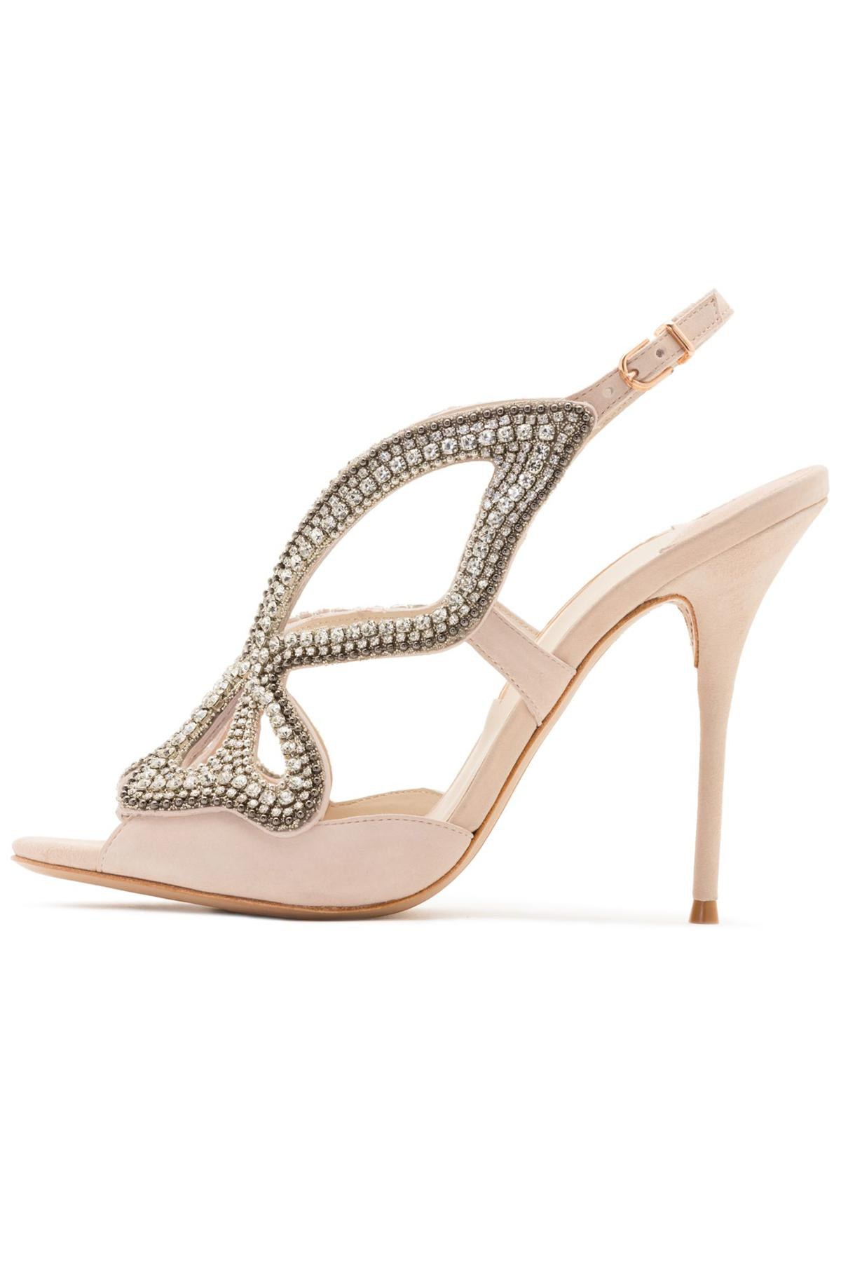 627da91c461 Lyst - Sophia Webster Madame Butterfly Crystal Sandal In Nude in Natural