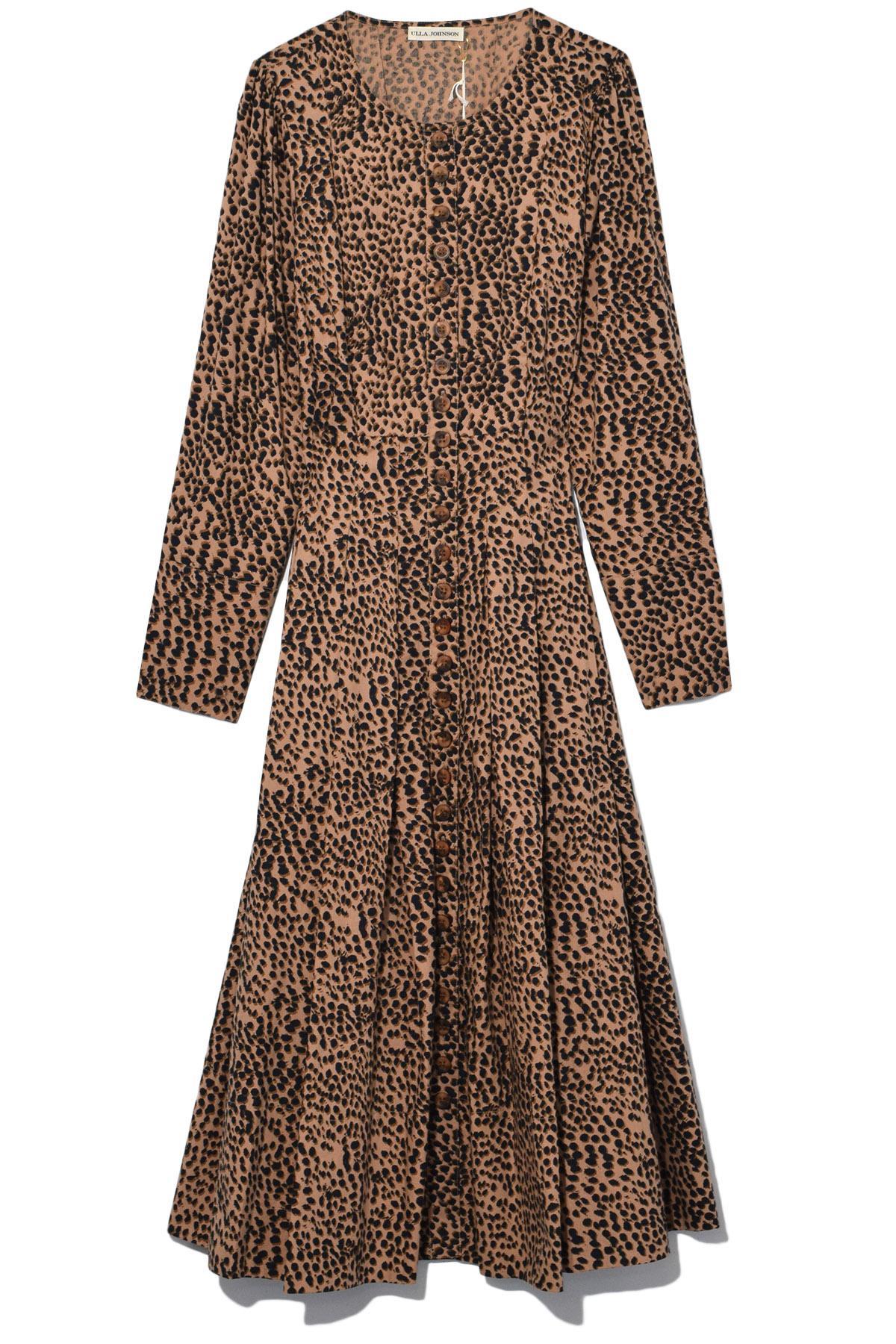 0f17416b75b9 Lyst - Ulla Johnson Bernadette Dress In Cheetah in Brown