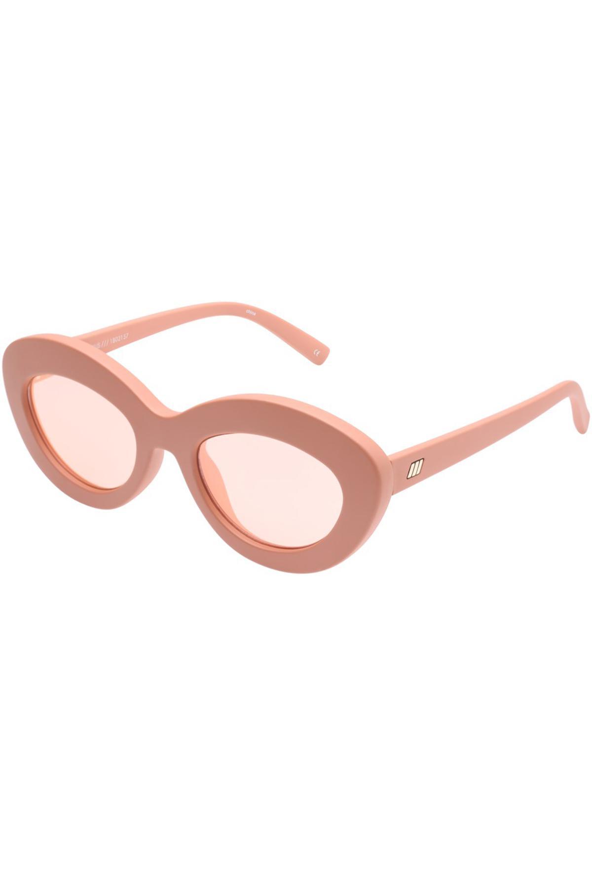2d4ee304240 Lyst - Le Specs Fluxus Sunglasses In Matte Ginger in Pink