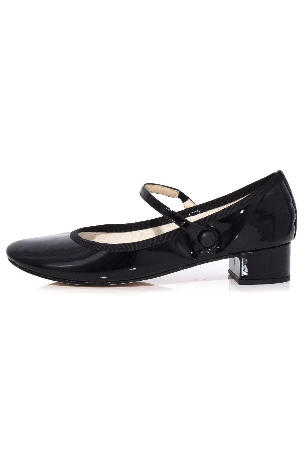 Repetto Black Patent Rose Mary Jane Heels outlet brand new unisex sPZKqSW7DI