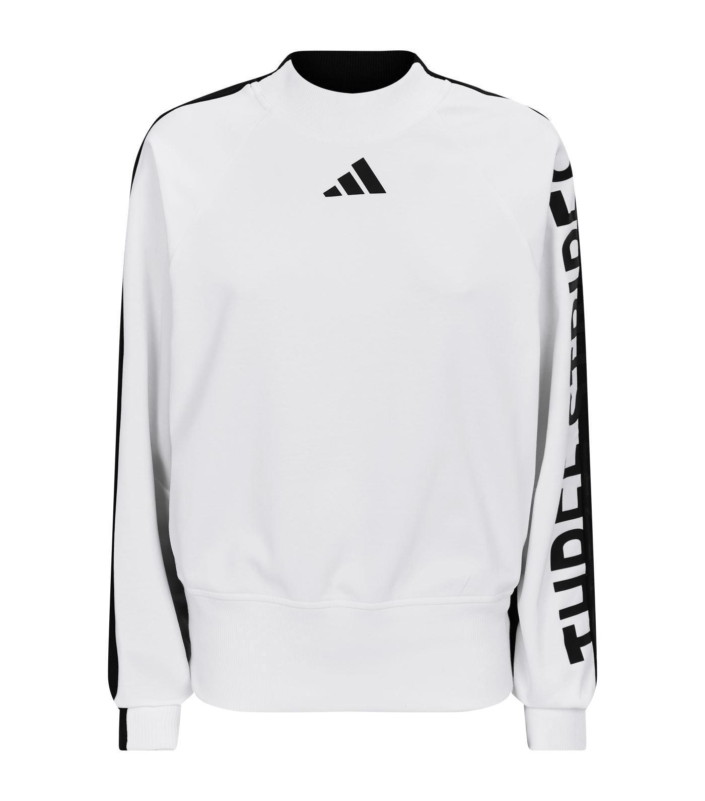adidas Logo Sweatshirt in White - Lyst b5f383c08b9