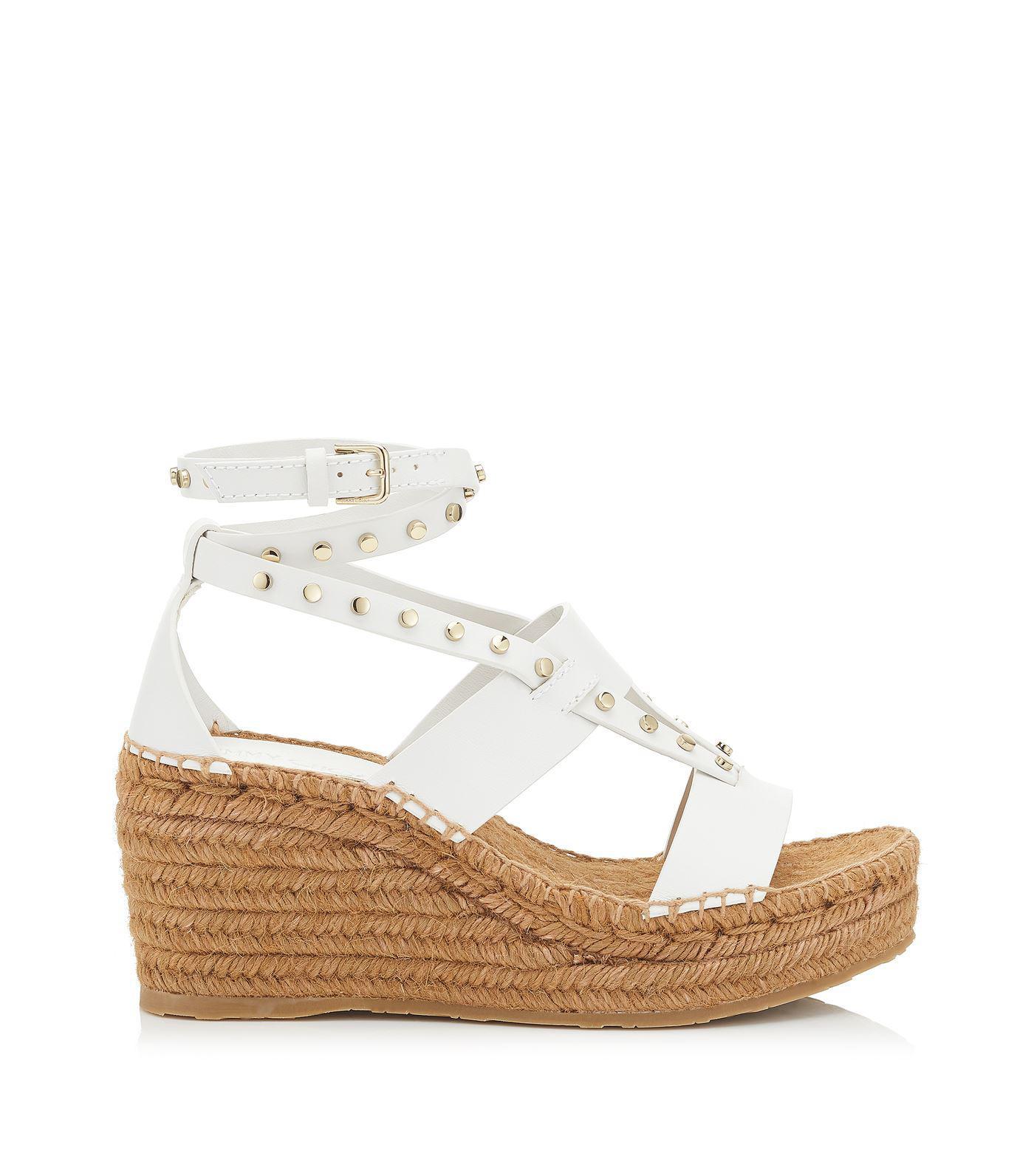 bda440058ac4 Lyst - Jimmy Choo Danica 80 Espadrille Sandals in White