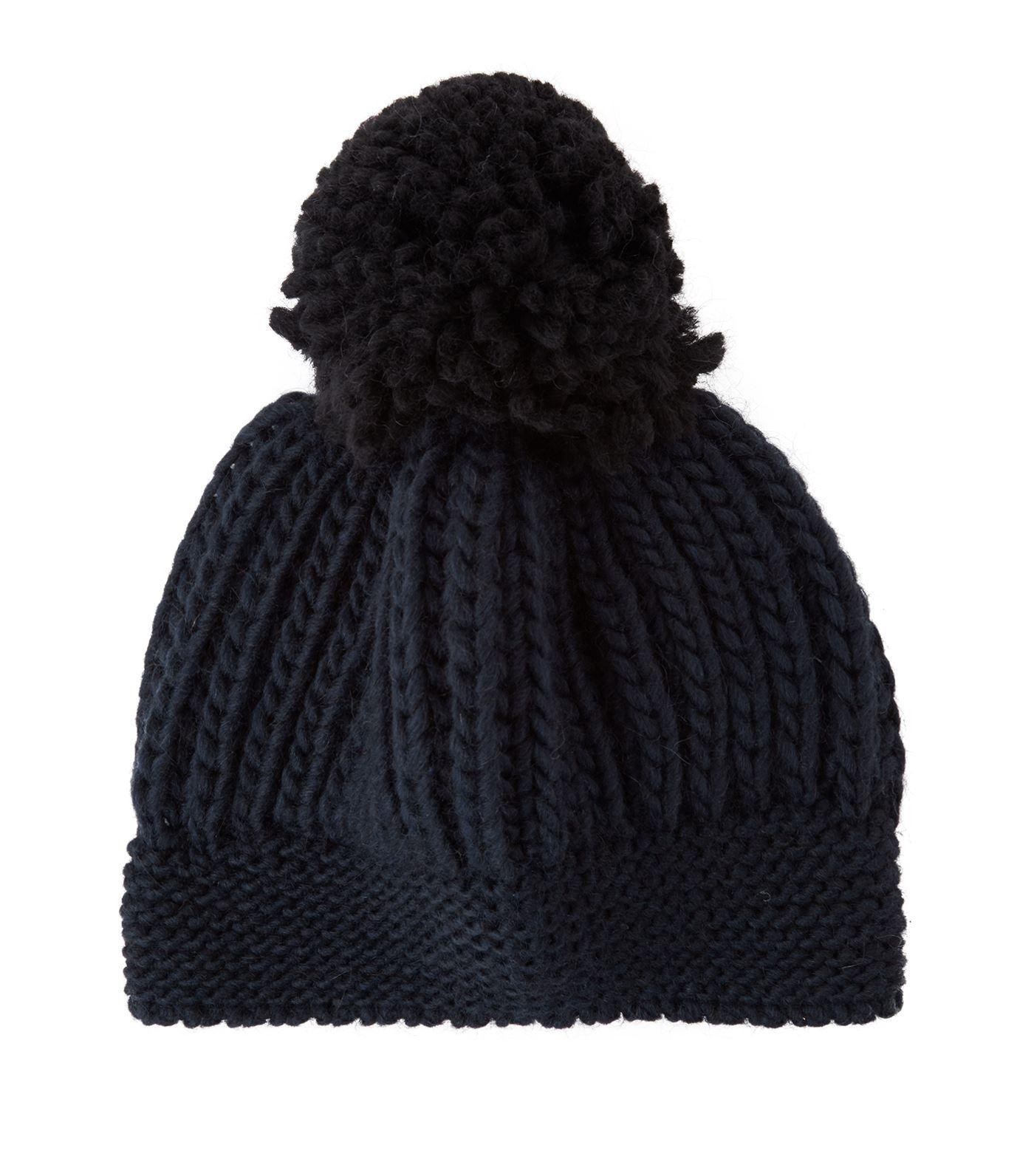 29c0a2a67f3 Lyst - Sandro Beryl Pom Pom Beanie Hat in Blue