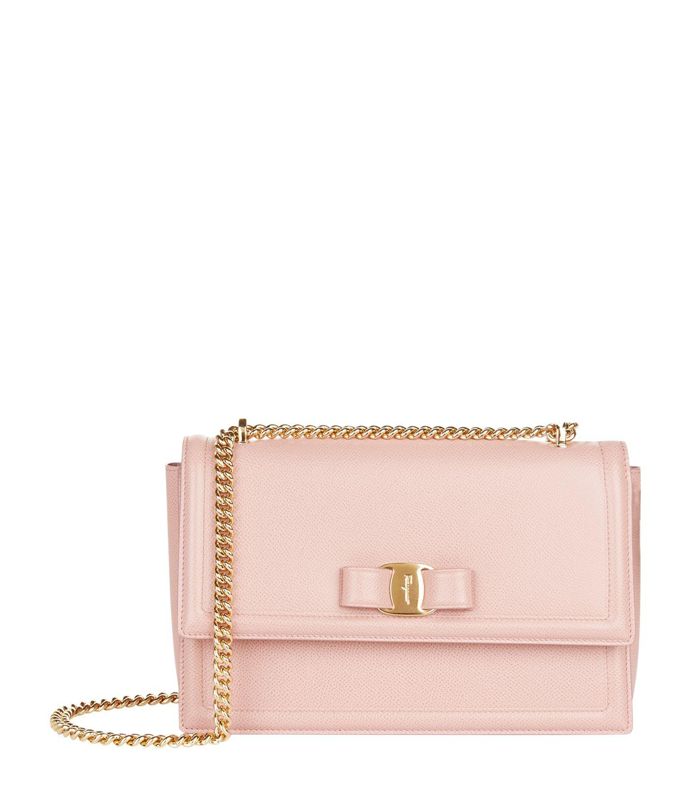 1626ee15f42b Lyst - Ferragamo Ginny Shoulder Bag in Pink