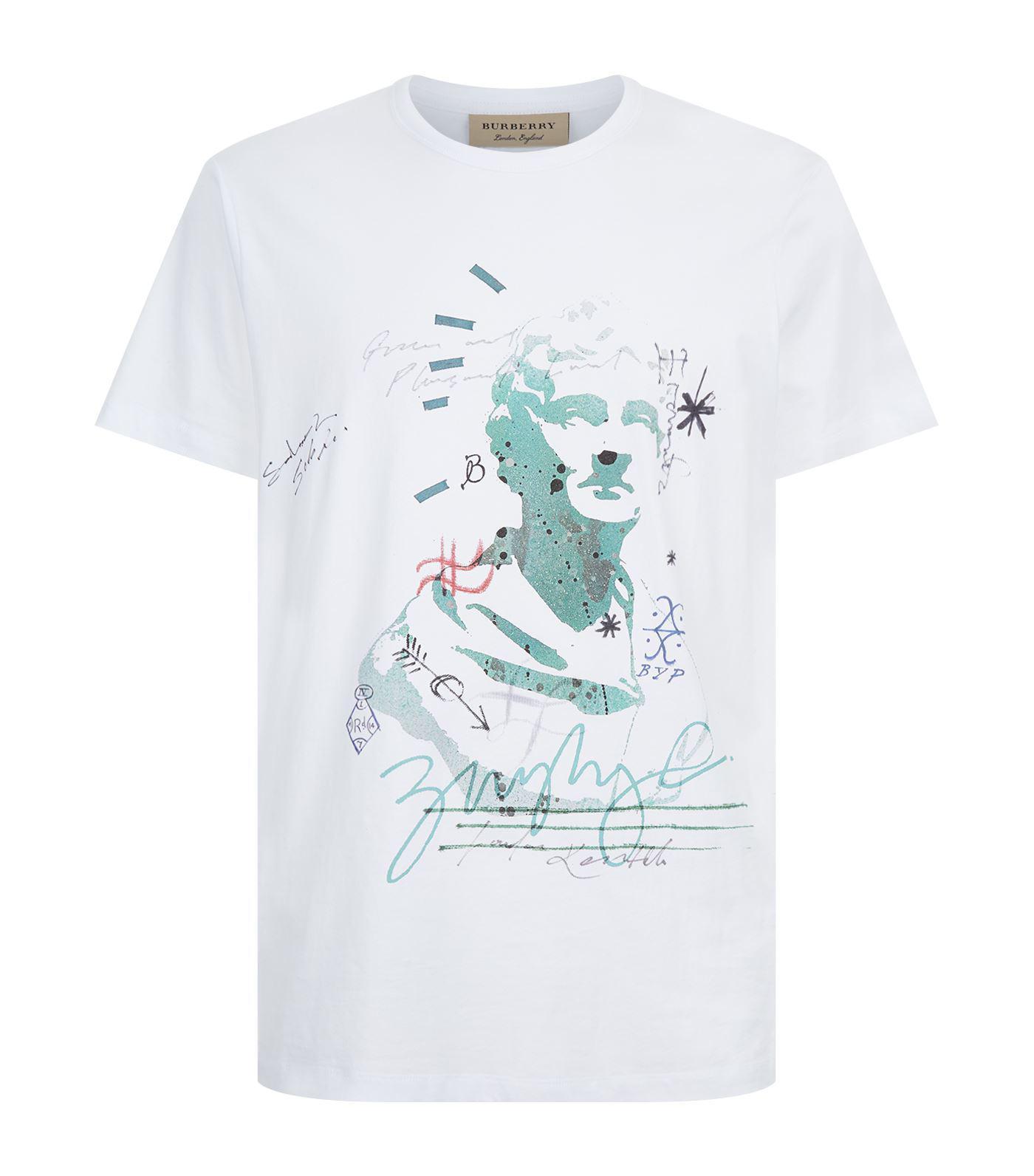 8ba45b947 Burberry Statue Print T-shirt in White for Men - Lyst