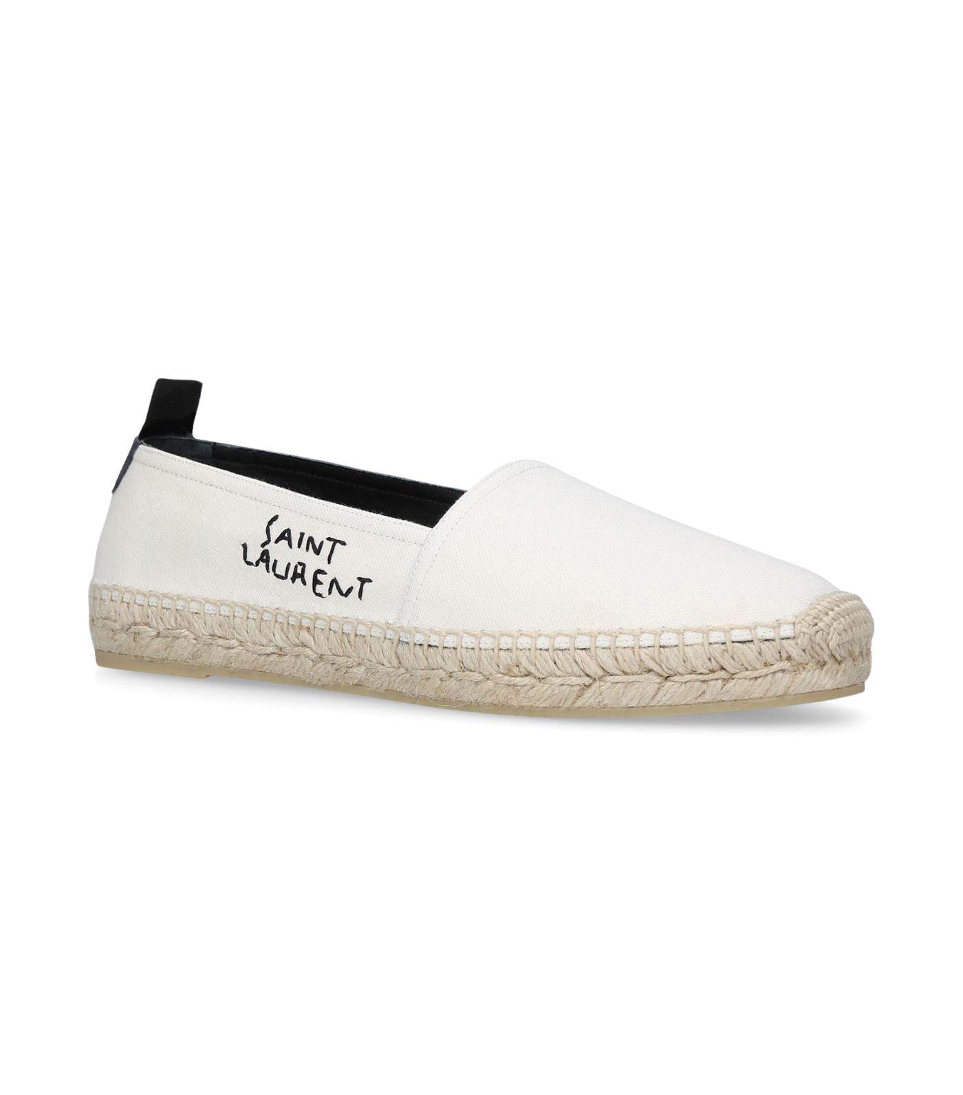 Saint Laurent Logo stitched espadrilles