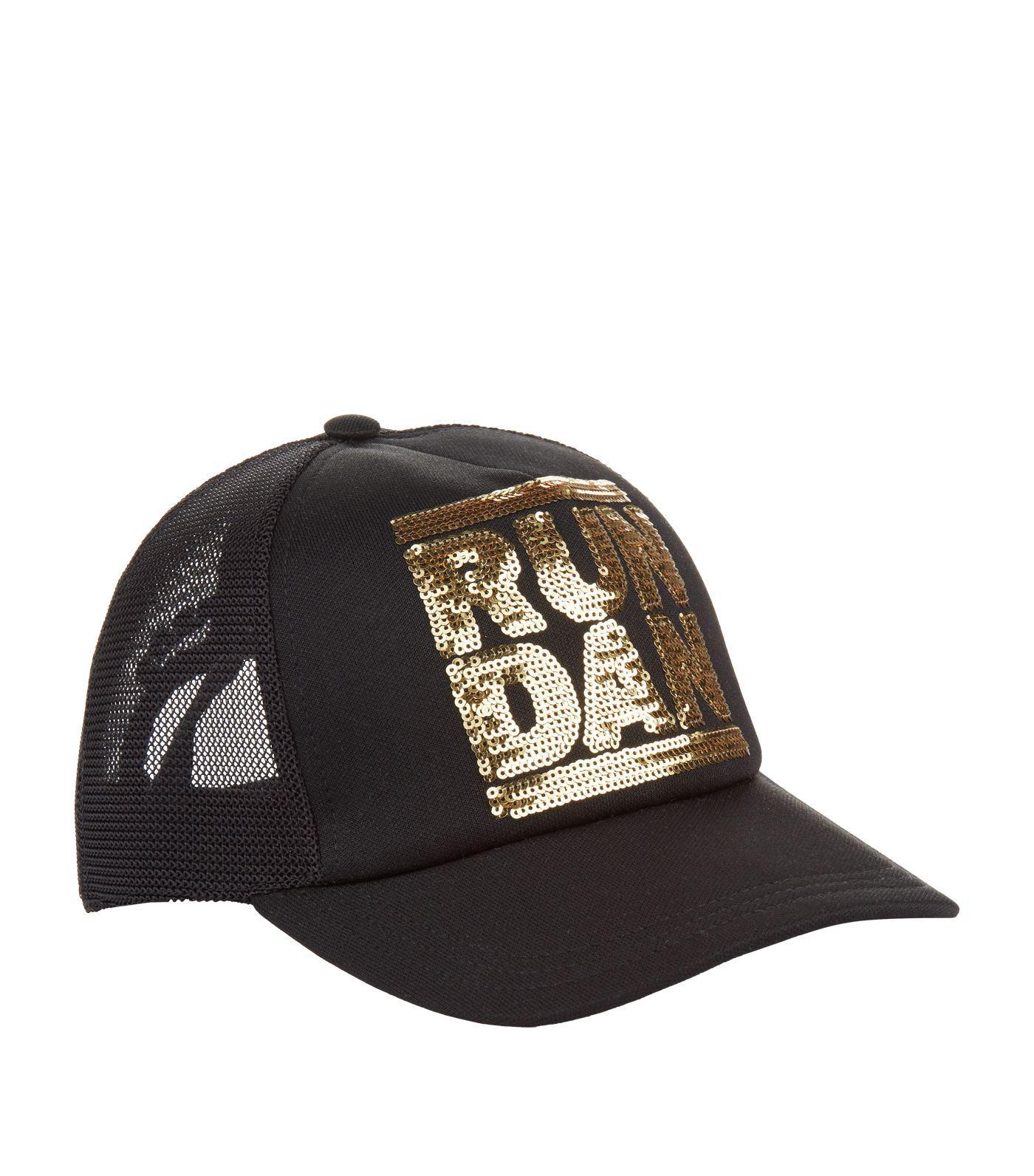 20485854044 DSquared² Run Dan Sequin Cap in Black for Men - Lyst