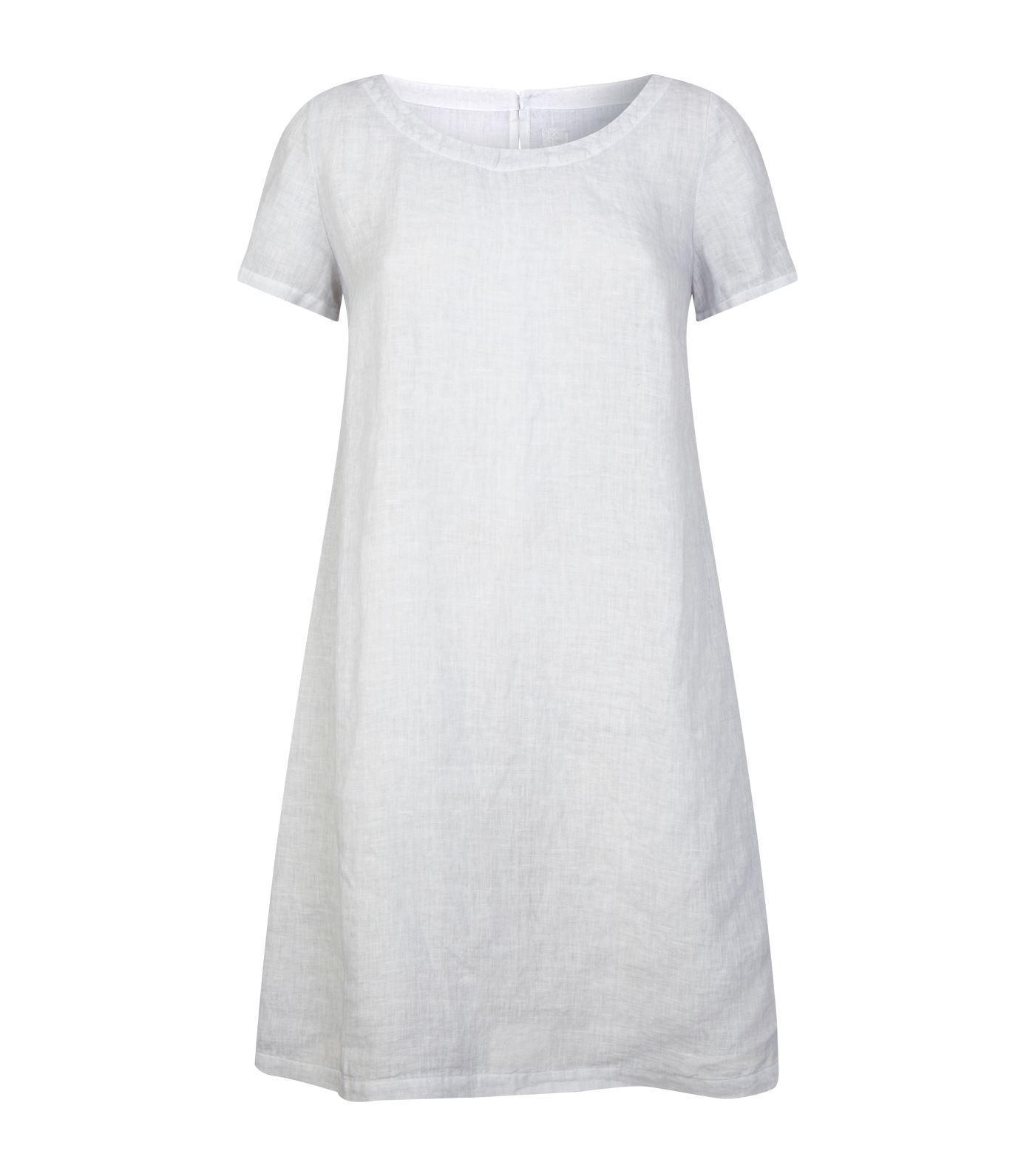ac692cebb9 Lyst - 120% Lino Linen Shift Dress in Gray