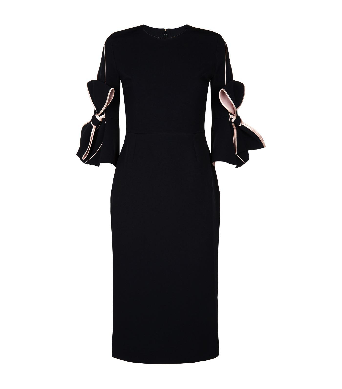 079a10ff4802 Lyst - ROKSANDA Lavete Bow Sleeve Dress in Black