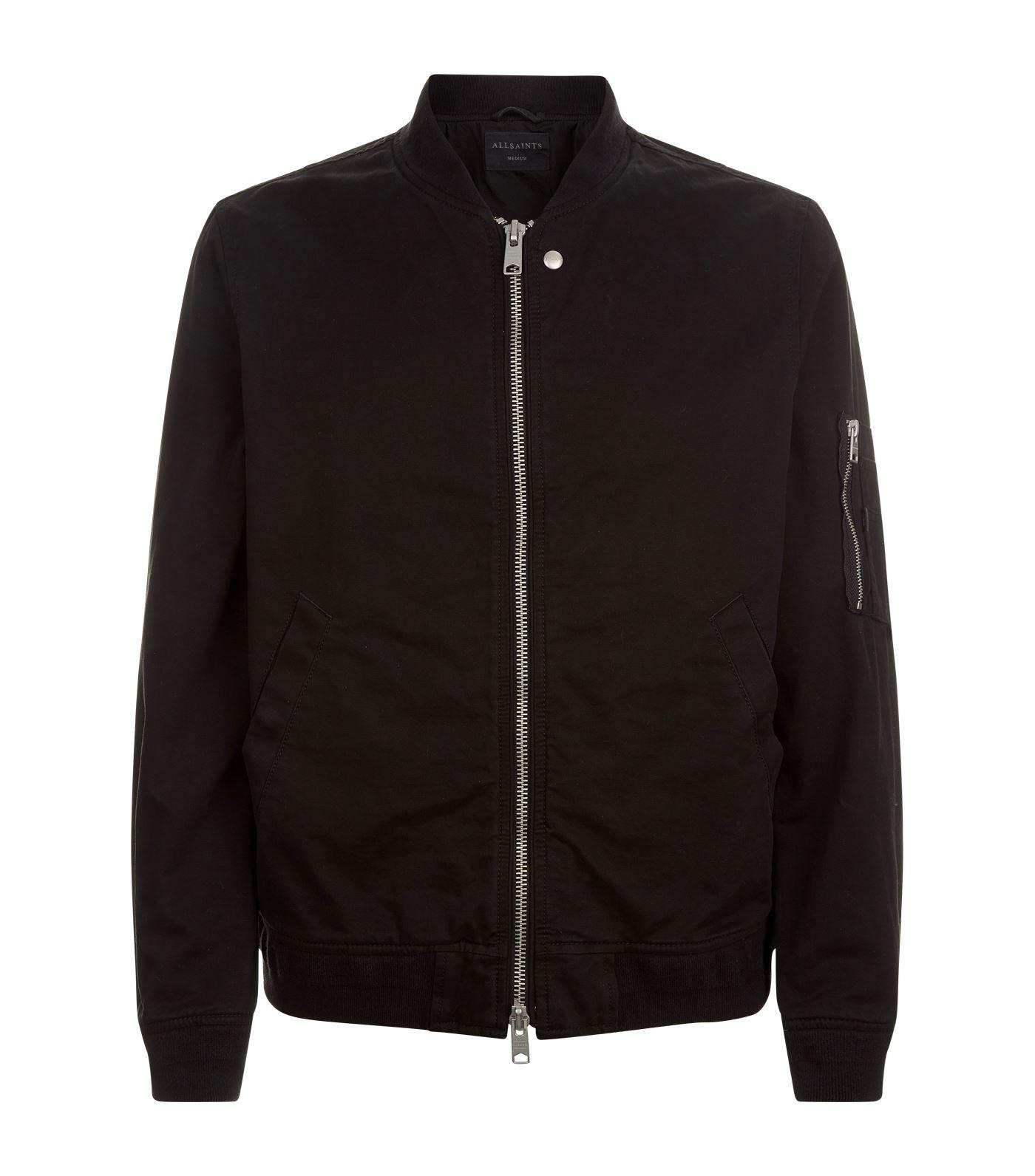 AllSaints Satta Bomber Jacket in Black for Men - Lyst