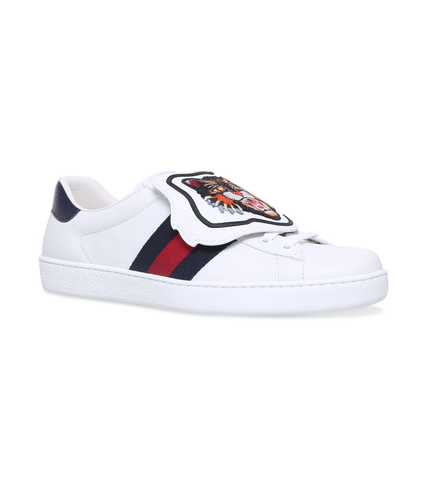 Sneaker ACE Kalbsleder Gucci Webdetails Logo Patch wei? Gucci TezENv8tW