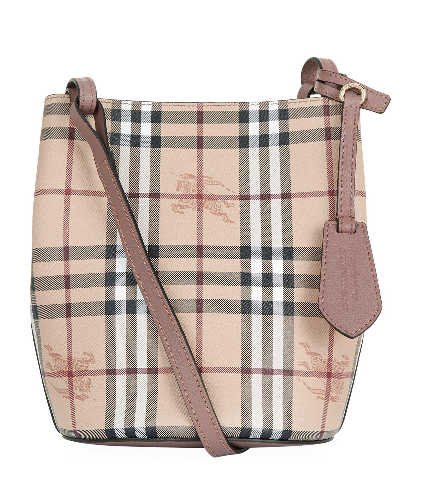507a72a4c93f Burberry Small Lorne Bucket Bag in Purple - Lyst