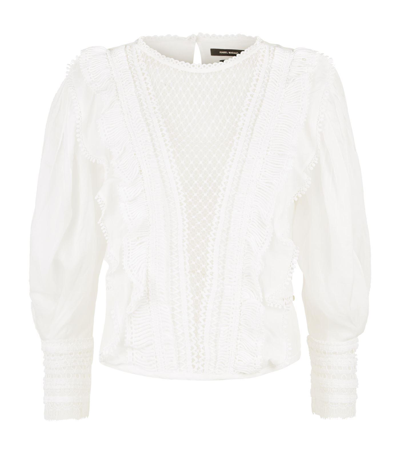 8184fdcc1b5619 Isabel Marant - White Rosen Sheer Lace Top - Lyst. View fullscreen