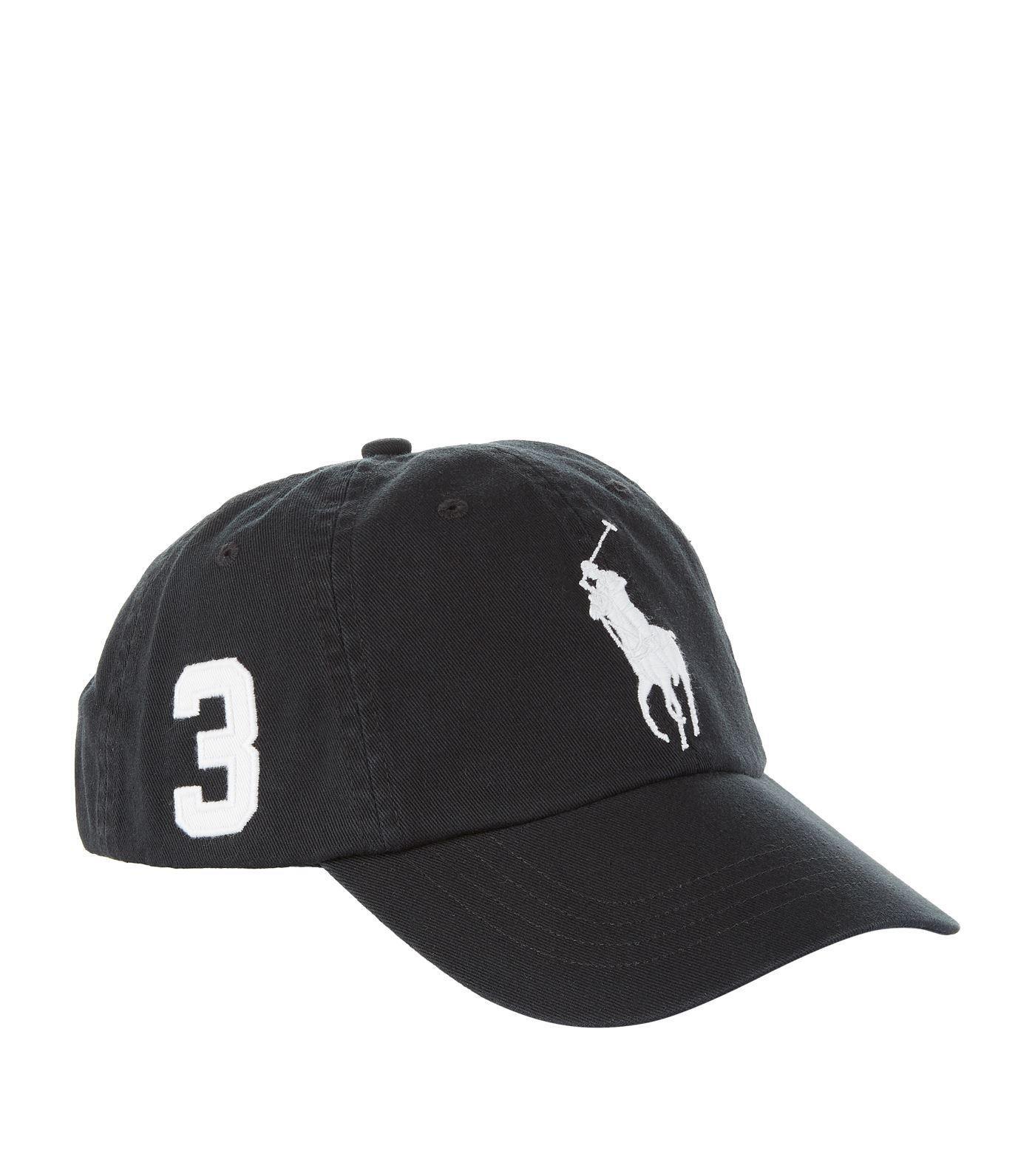 Lyst - Ralph Lauren Polo Pony Baseball Cap in Black for Men d6df39d5729