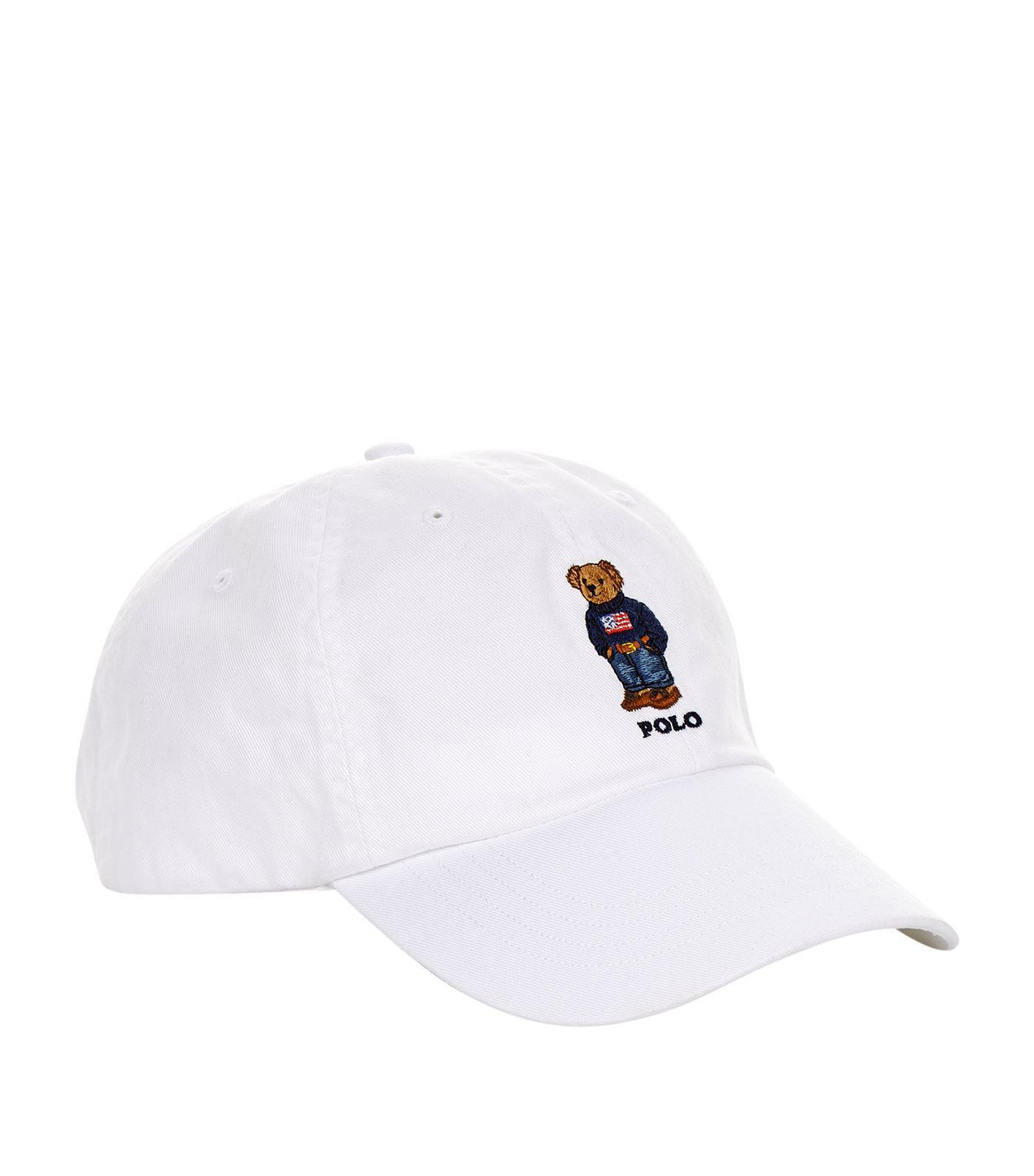 14bfe07be Polo Ralph Lauren Embroidered Bear Cap in White for Men - Lyst