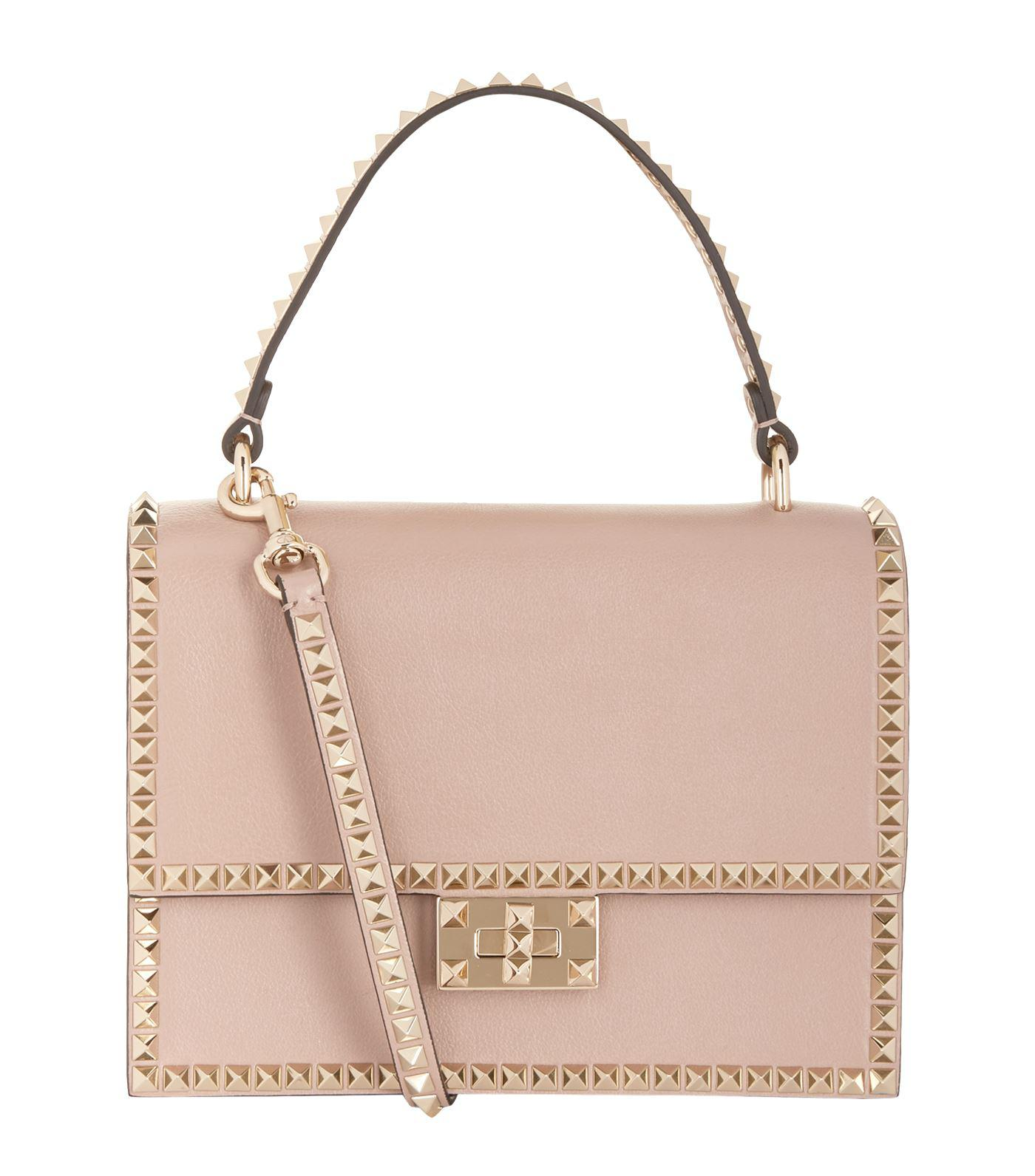 89e4b605eed Valentino Leather Rockstud No Limit Shoulder Bag in Pink - Lyst
