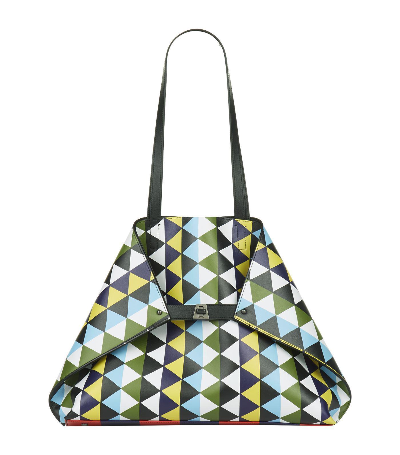 Lyst - Akris Ai Geometric Medium Shoulder Bag in Blue 362ac9feae
