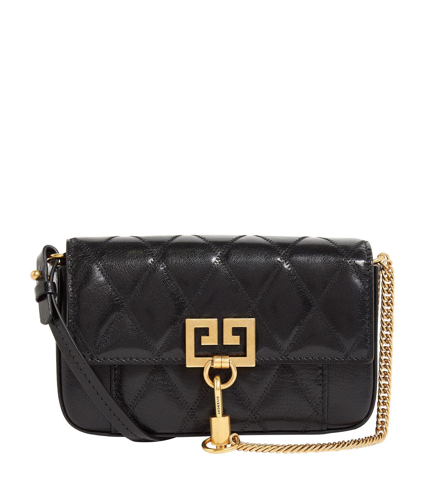 288ea45edd7 Givenchy - Black Mini Leather Pocket Pouch Bag - Lyst. View fullscreen